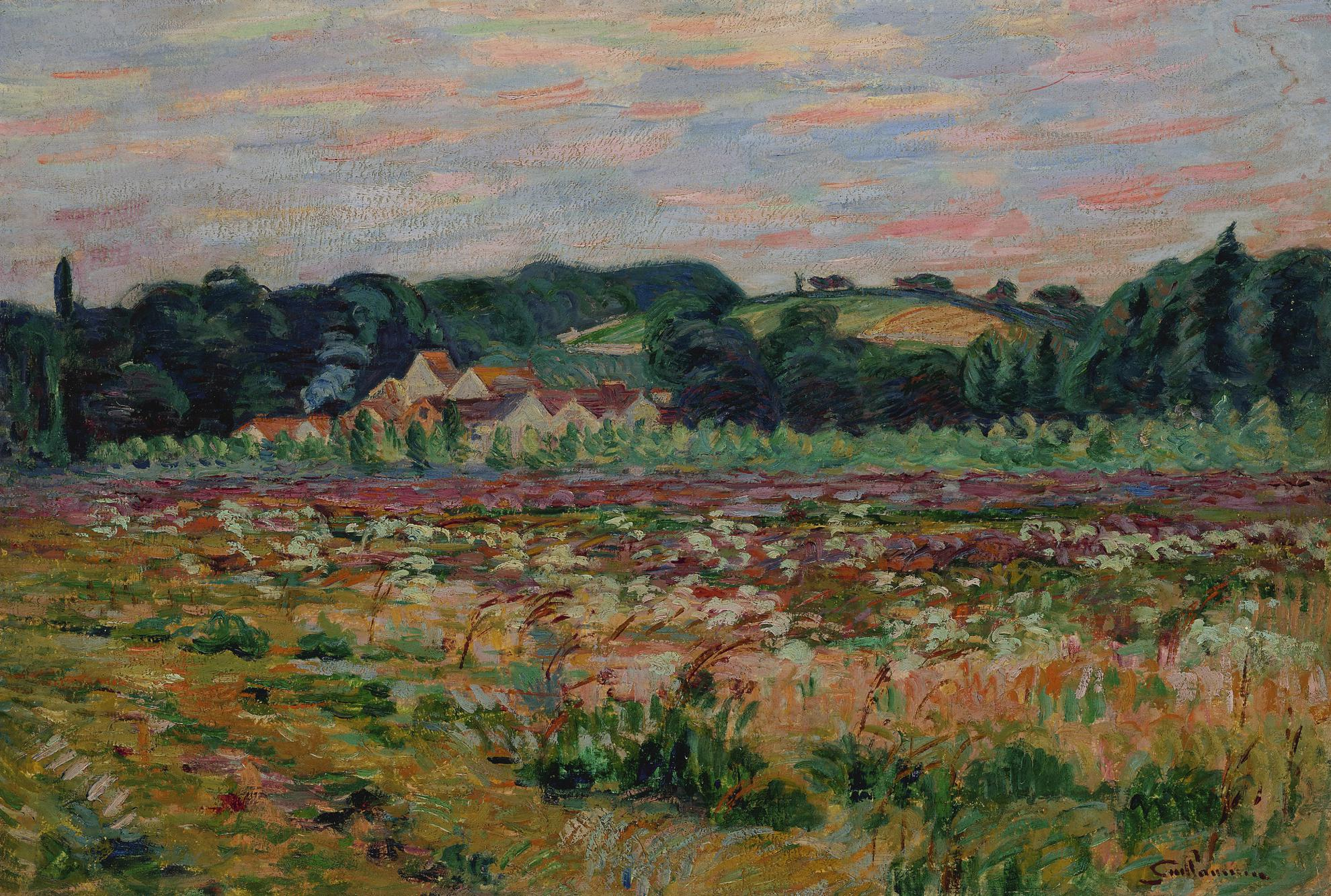 Jean-Baptiste Armand Guillaumin-Prairie A Epinay Sur Orge, Le Soir-1888