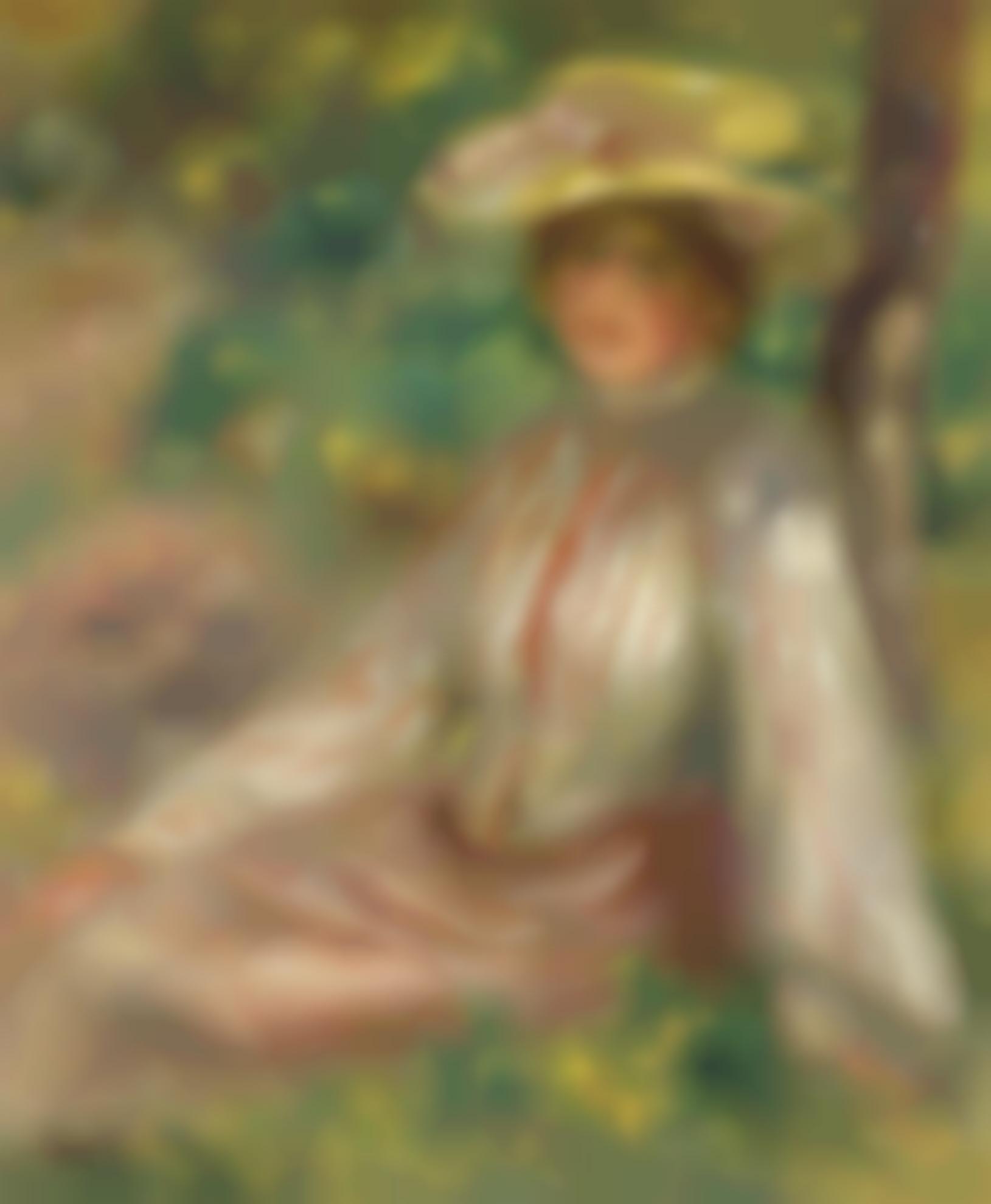 Pierre-Auguste Renoir-Femme Au Jardin-1890