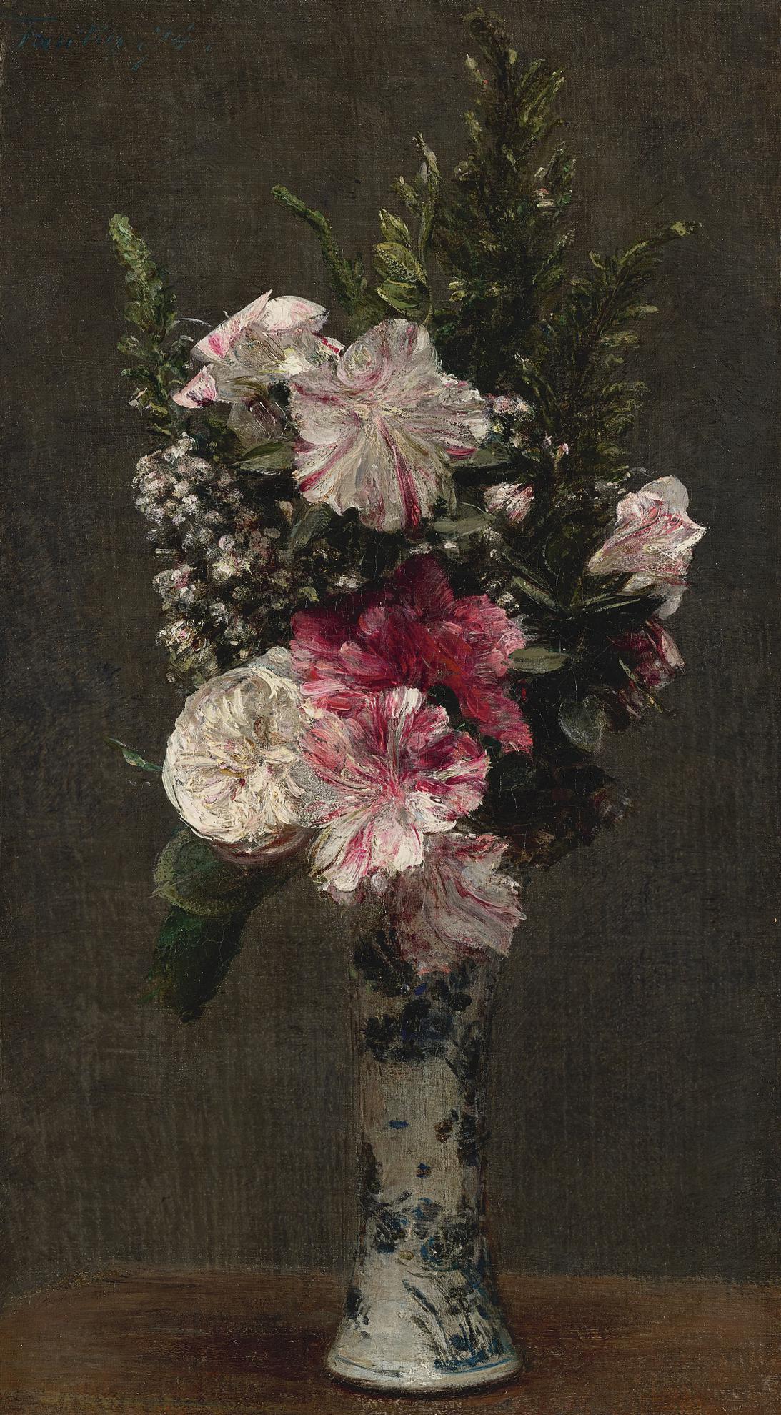 Henri Fantin-Latour-Azalees Et Bruyeres-1874
