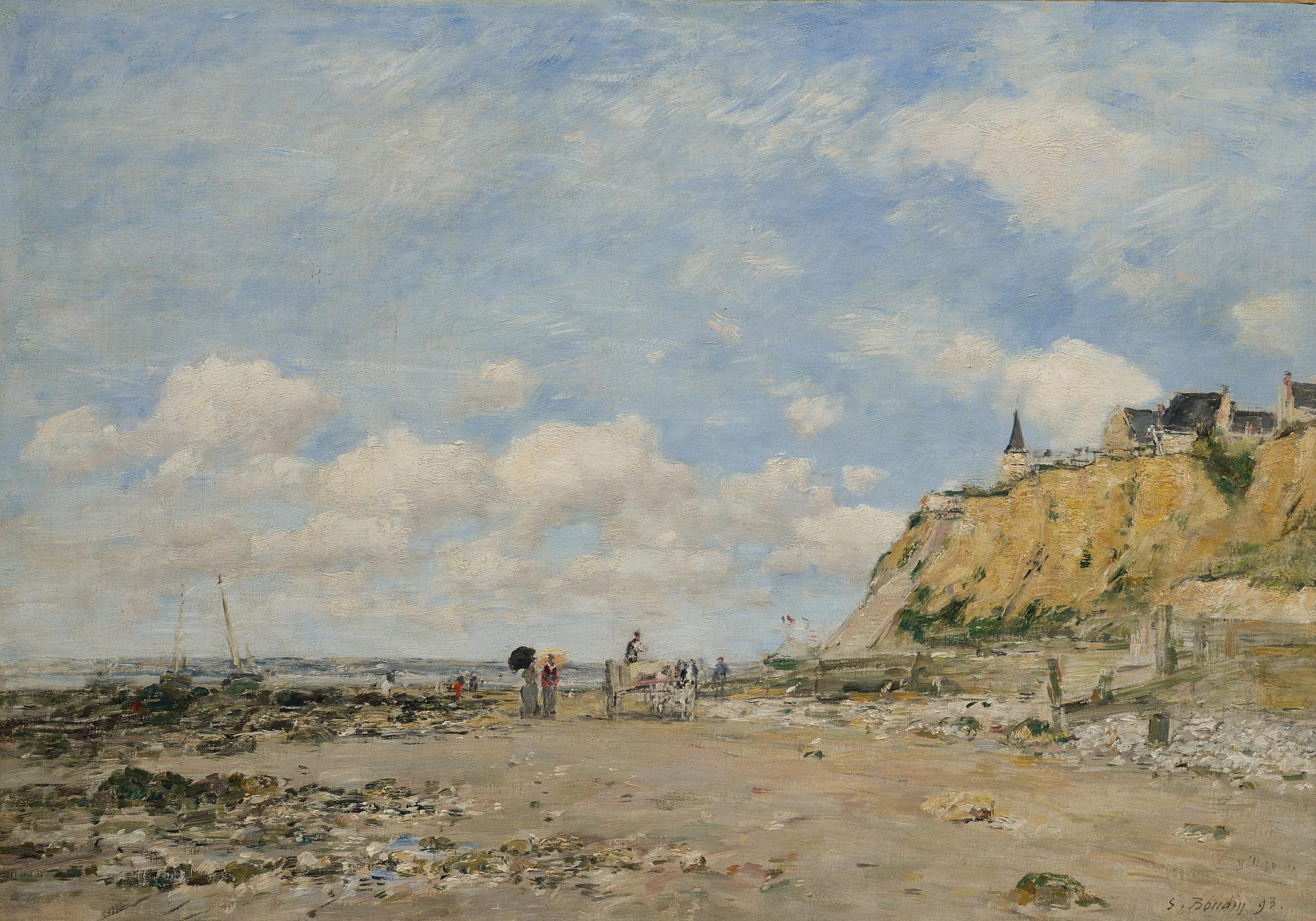 Eugene Louis Boudin-Le Rivage De Villerville-1893