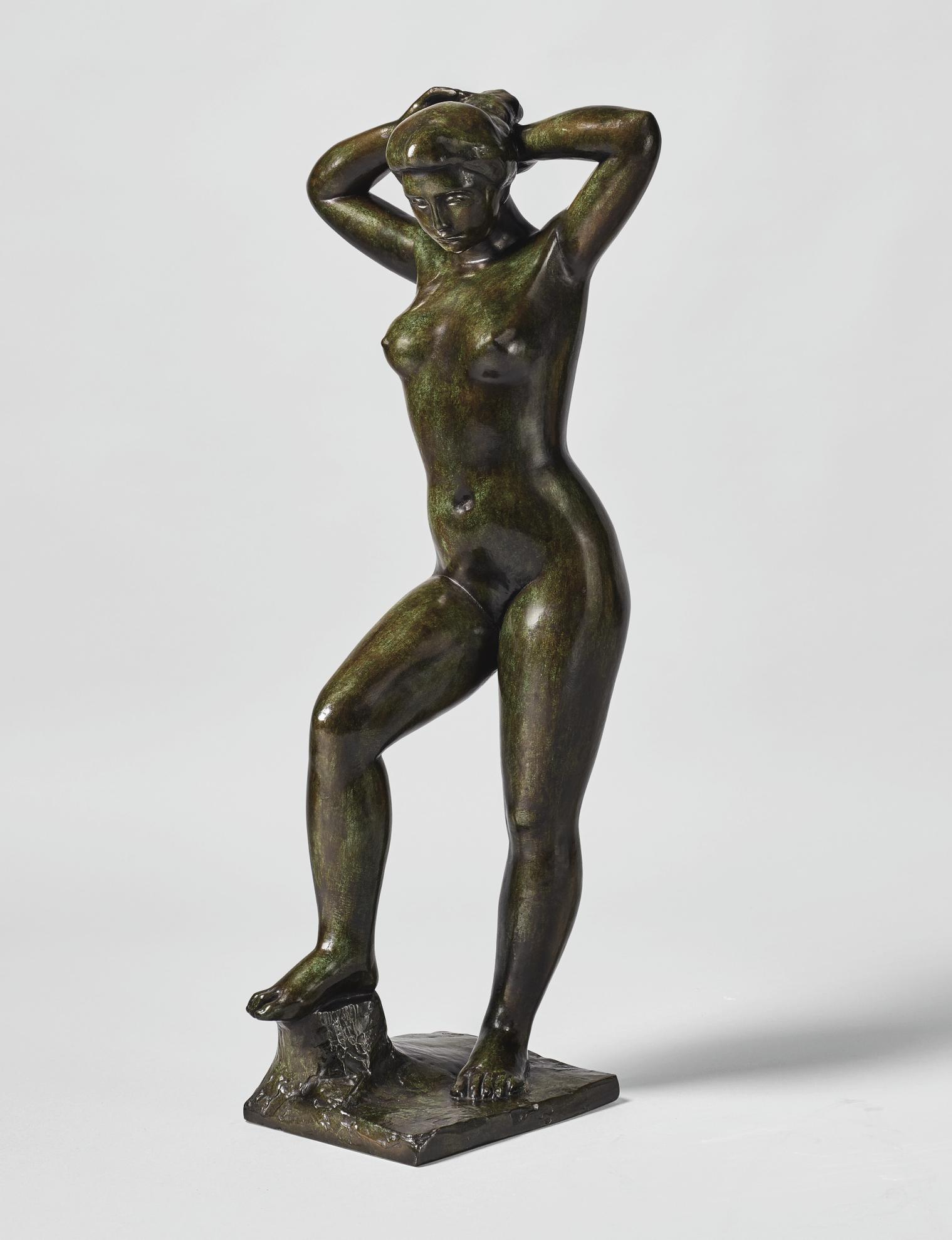 Aristide Maillol-Nu Debout Se Coiffant (Baigneuse Aux Bras Leves)-1898