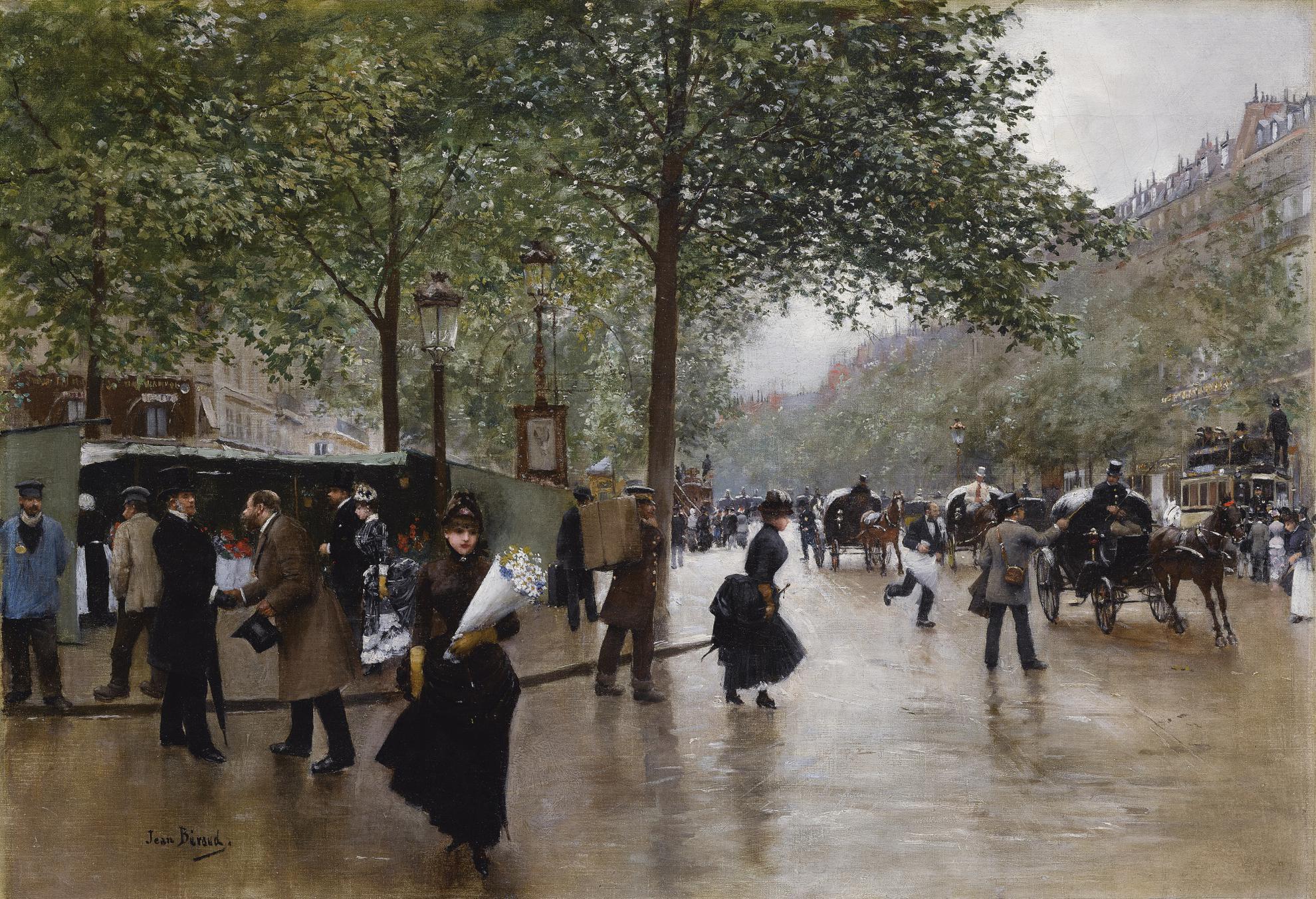 Jean Beraud - Sur Les Grands Boulevards-