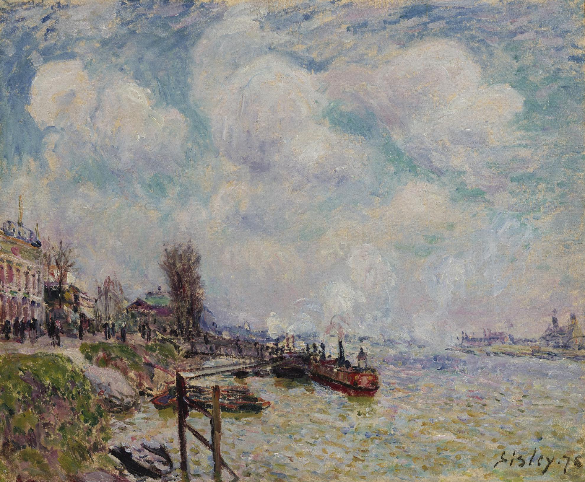 Alfred Sisley-La Seine Au Point Du Jour-1878