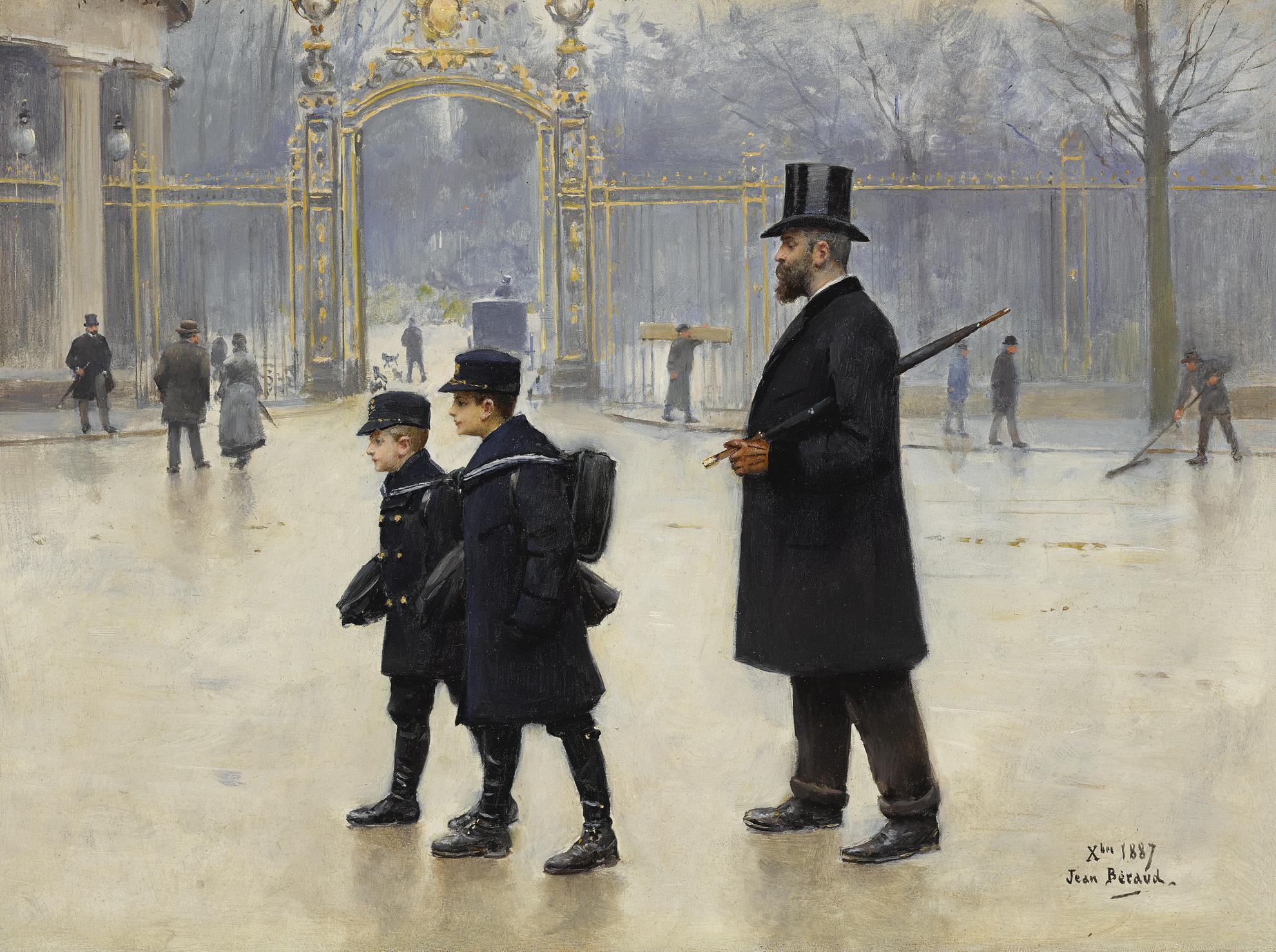 Jean Beraud - Le Parc Monceau-1887