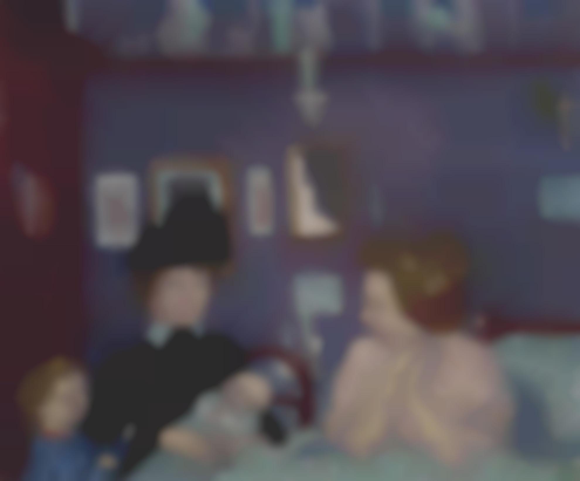 Maurice Denis-Visite Dans La Chambre Violette-1899