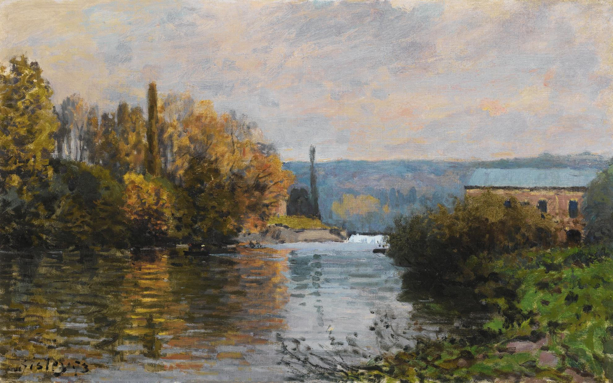 Alfred Sisley-Le Barrage De La Machine A Marly-1873