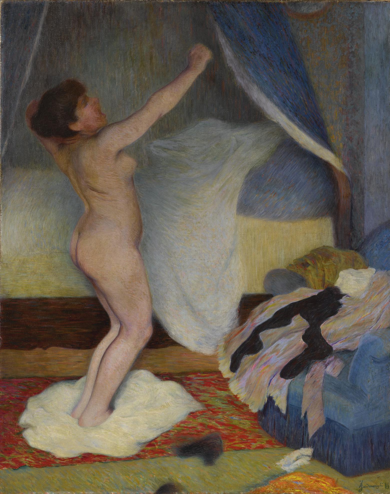 Federico Zandomeneghi-Le Lever: Femme Setirant-1886