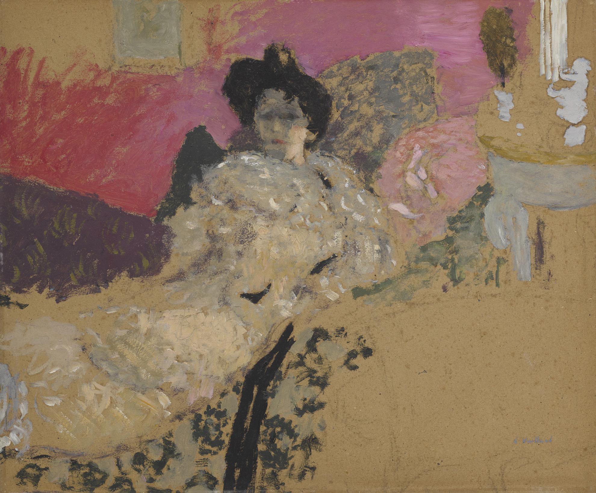 Edouard Vuillard-Etude Pour Le Portrait De Madame Delierre-1901