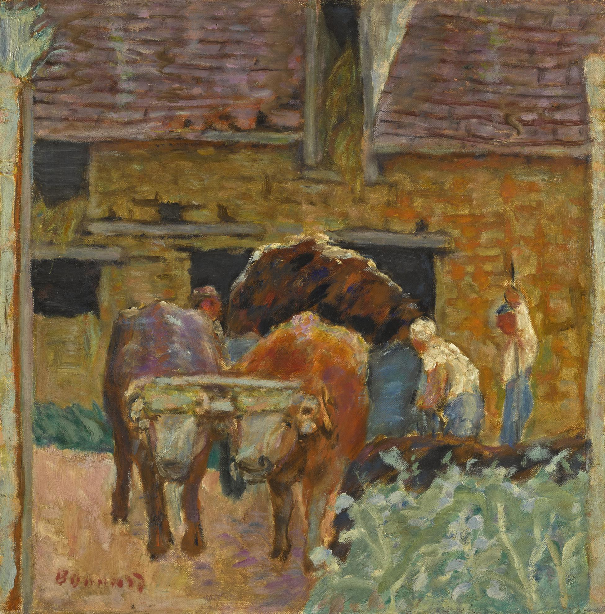 Pierre Bonnard-Les Deux Boeufs Et La Ferme-1912