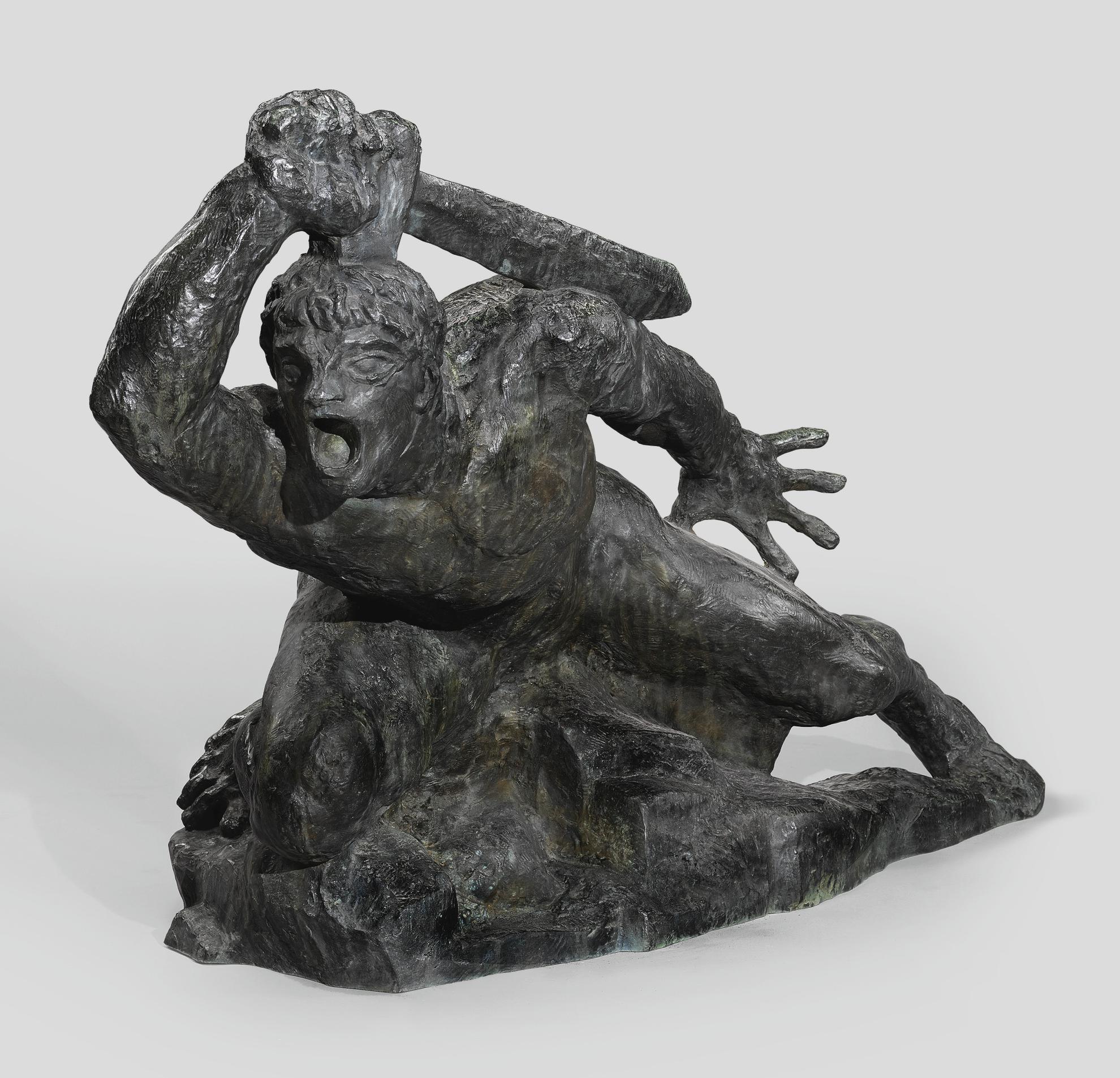 Emile Antoine Bourdelle - Guerrier Allonge Au Glaive, Grand Modele-1898
