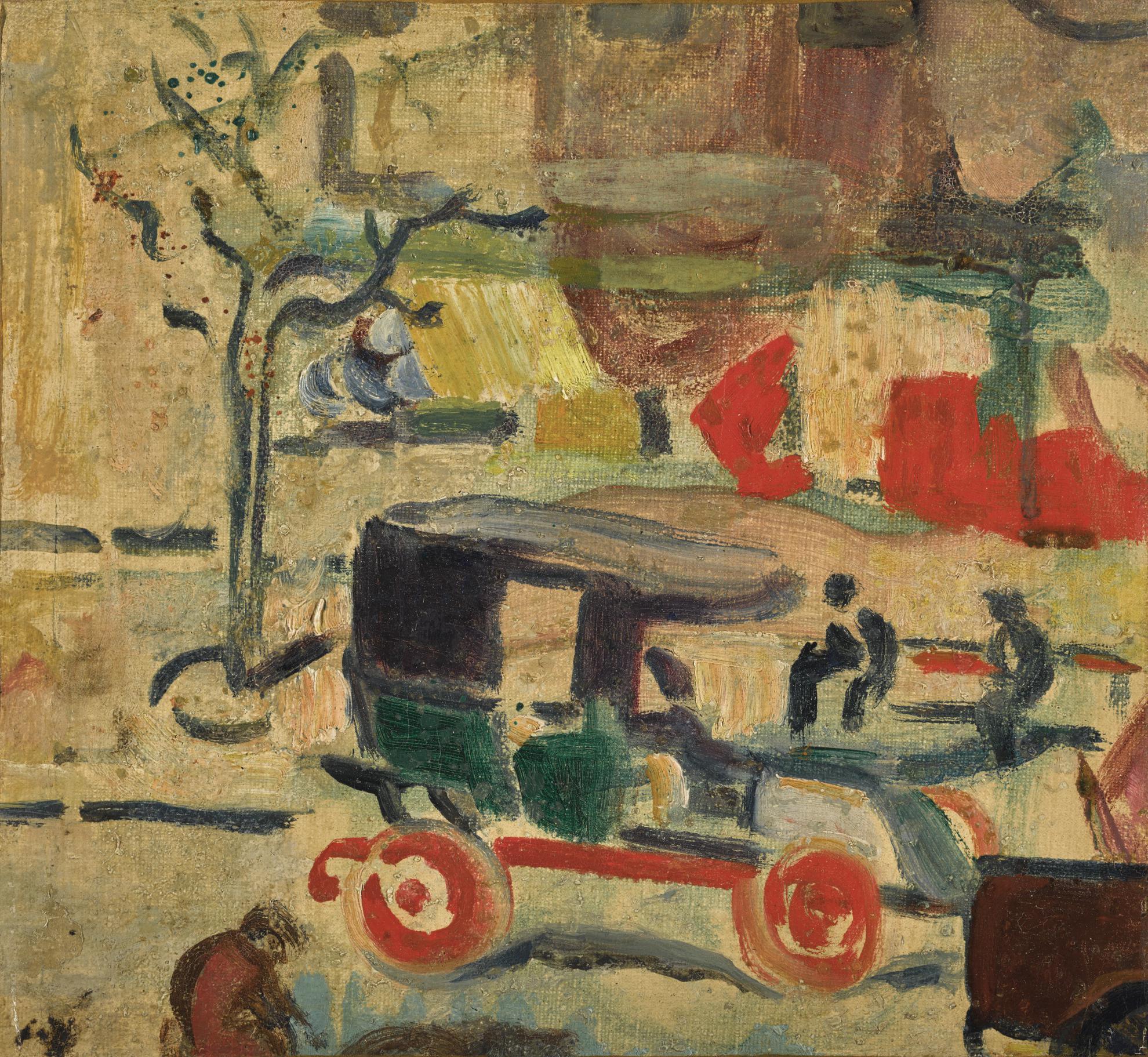 Louis Valtat-Le Taxi (Boulevard A Paris)-1905