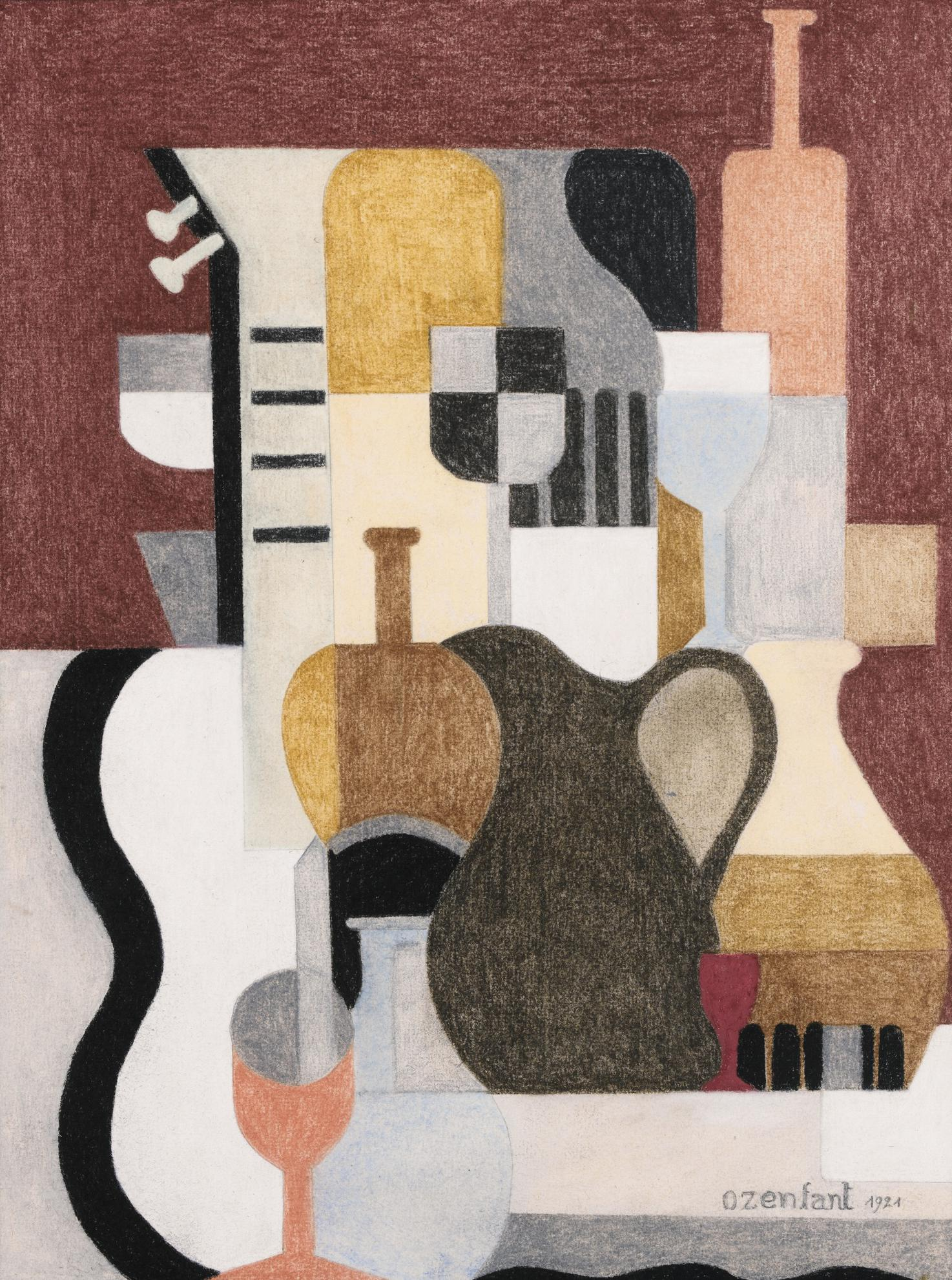 Amedee Ozenfant-Nautre Morte Puriste-1921