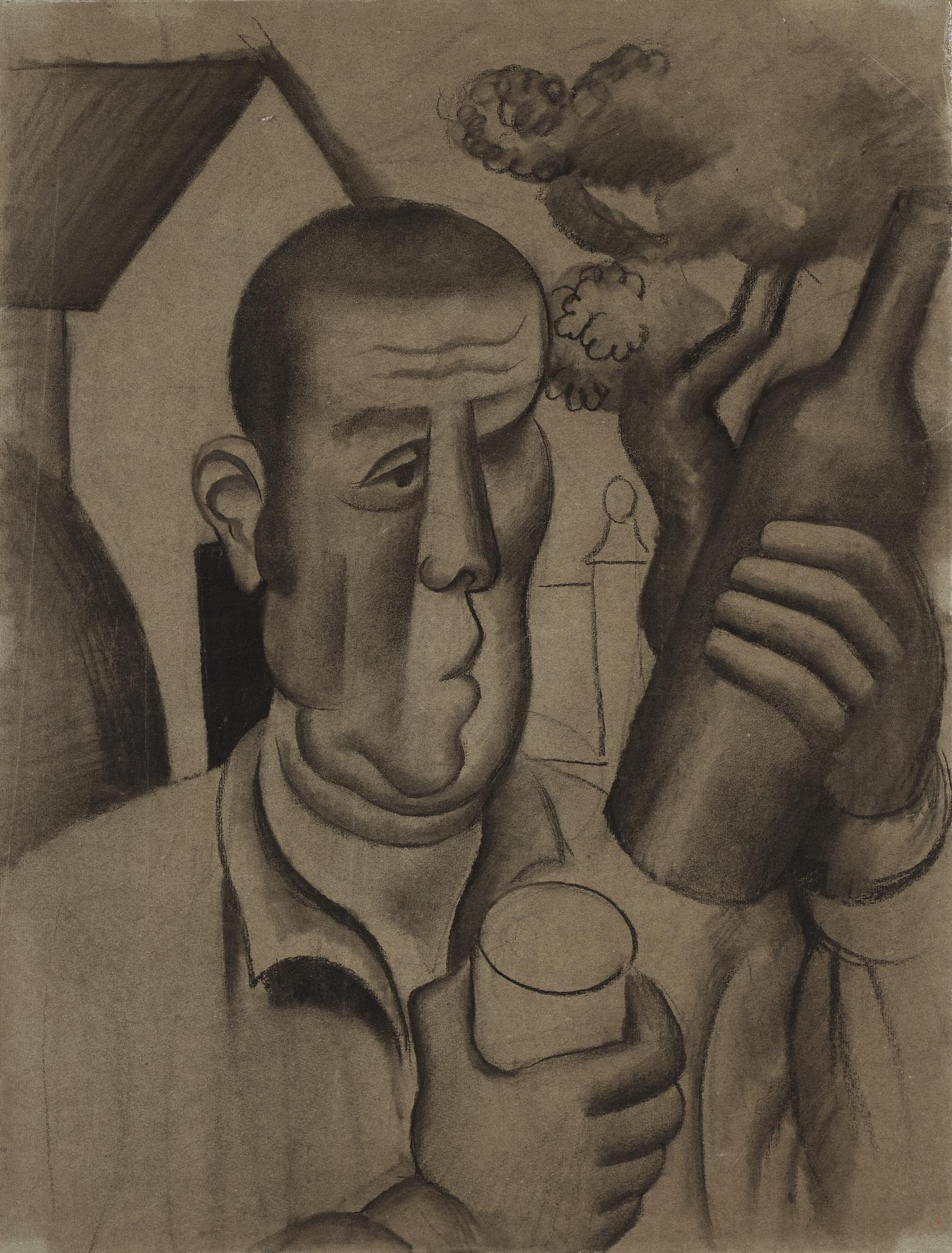 Roger de La Fresnaye-Paysan A La Bouteille-1922