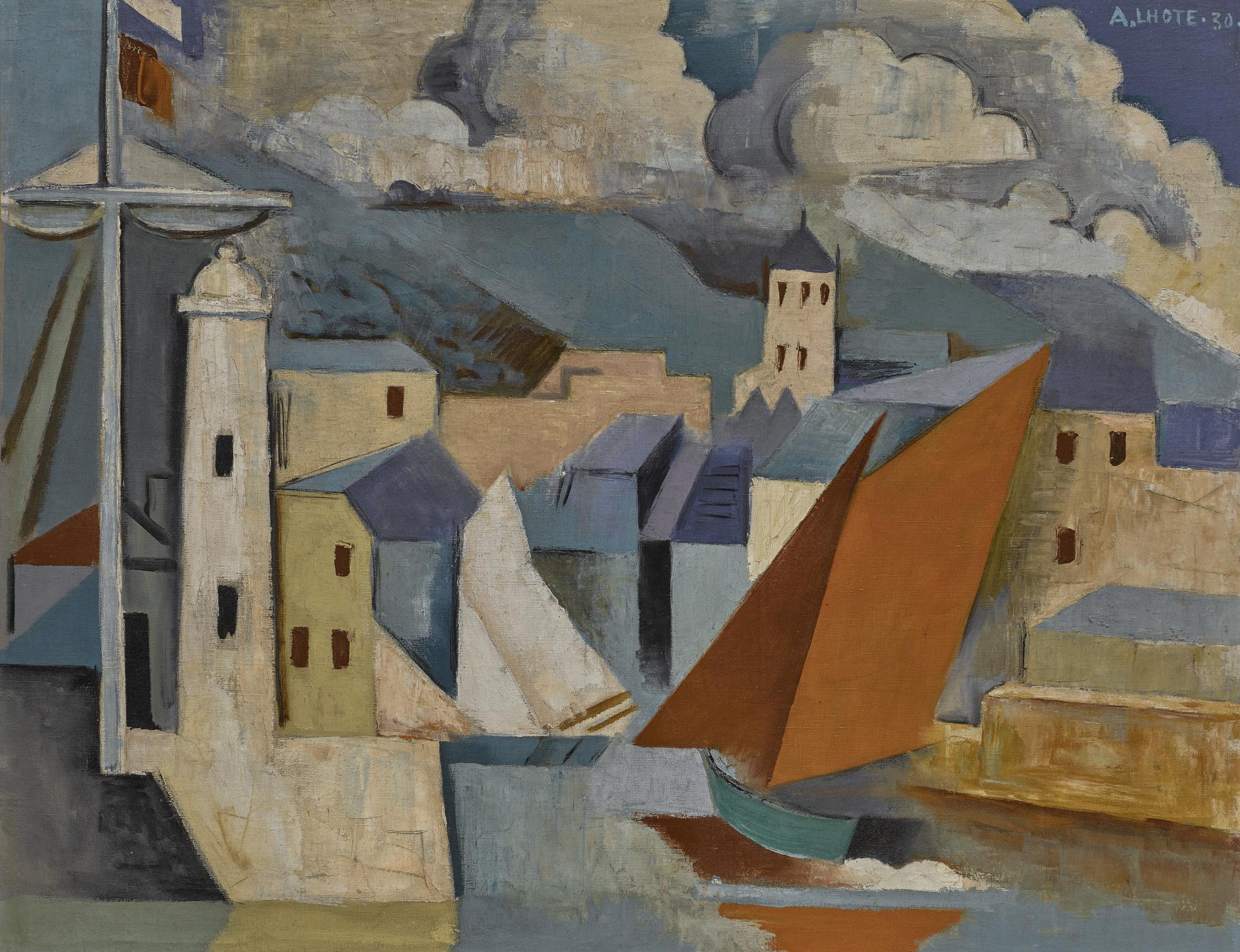 Andre Lhote-Port Mediterraneen-1930