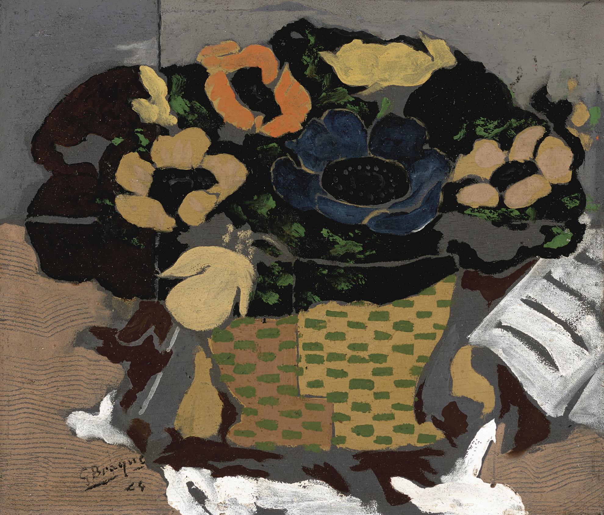 Georges Braque-Corbeille De Fleurs-1924