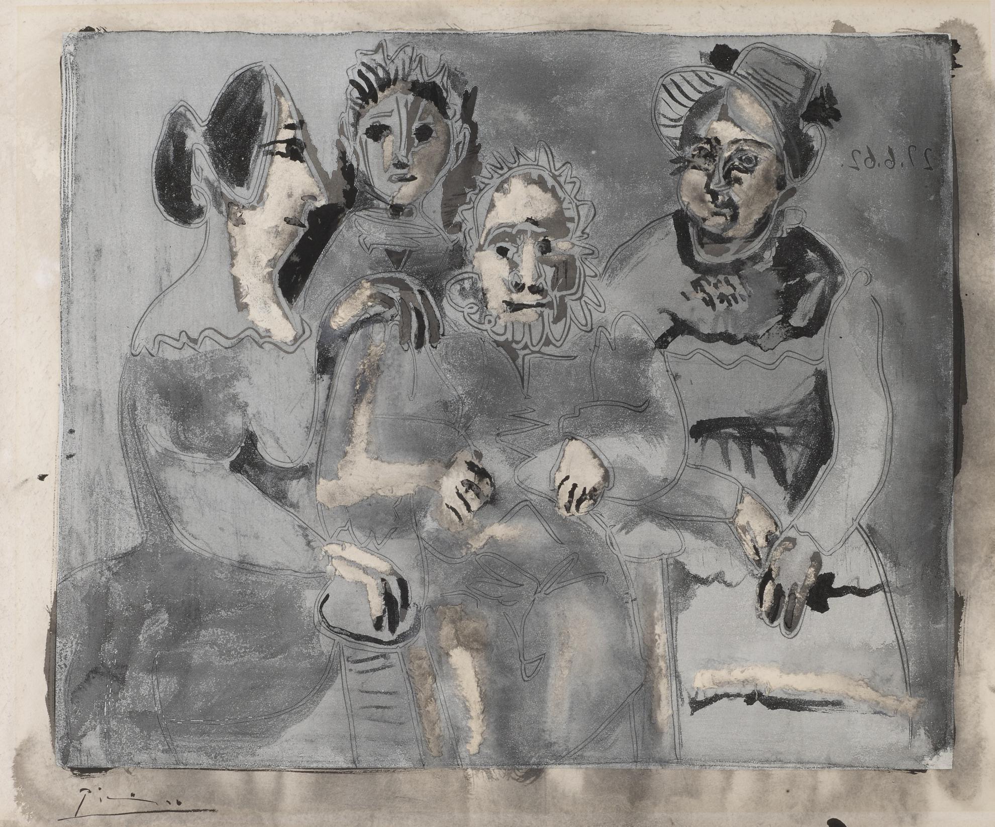 Pablo Picasso-Tableau De Famille-1964