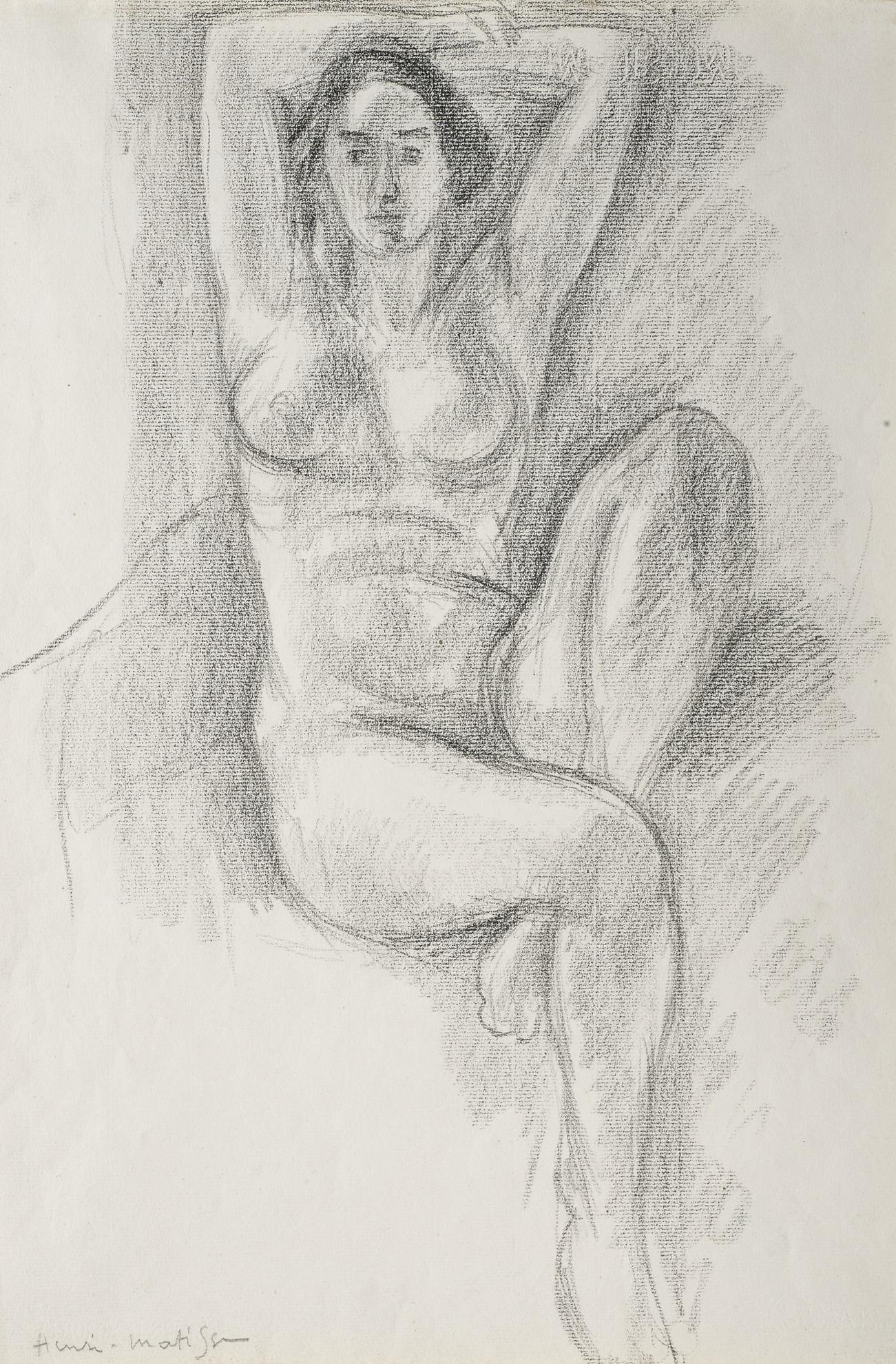 Henri Matisse-Femme Assise, Les Bras Levees-1924