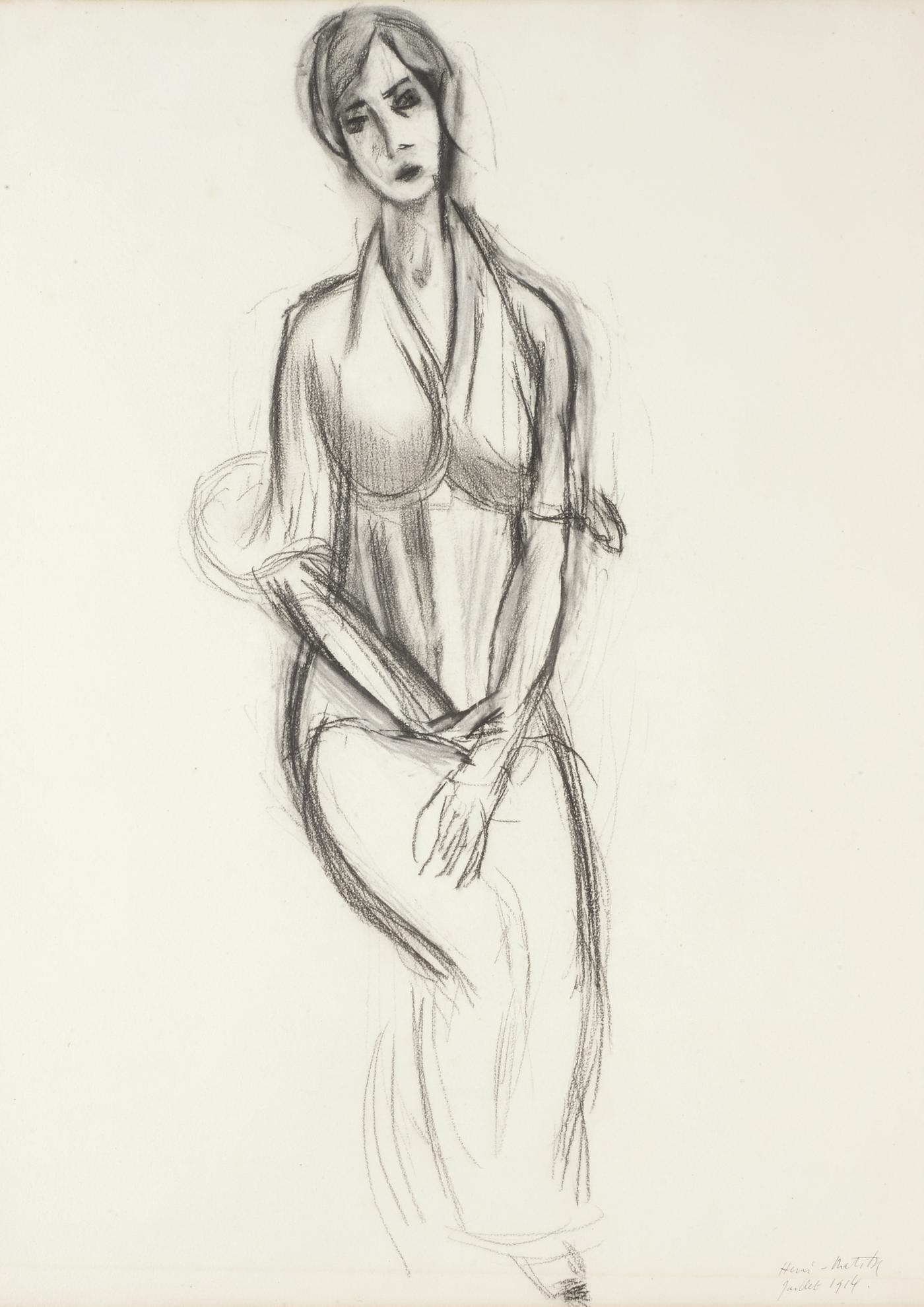 Henri Matisse-Mademoiselle Yvonne Landsberg-1914