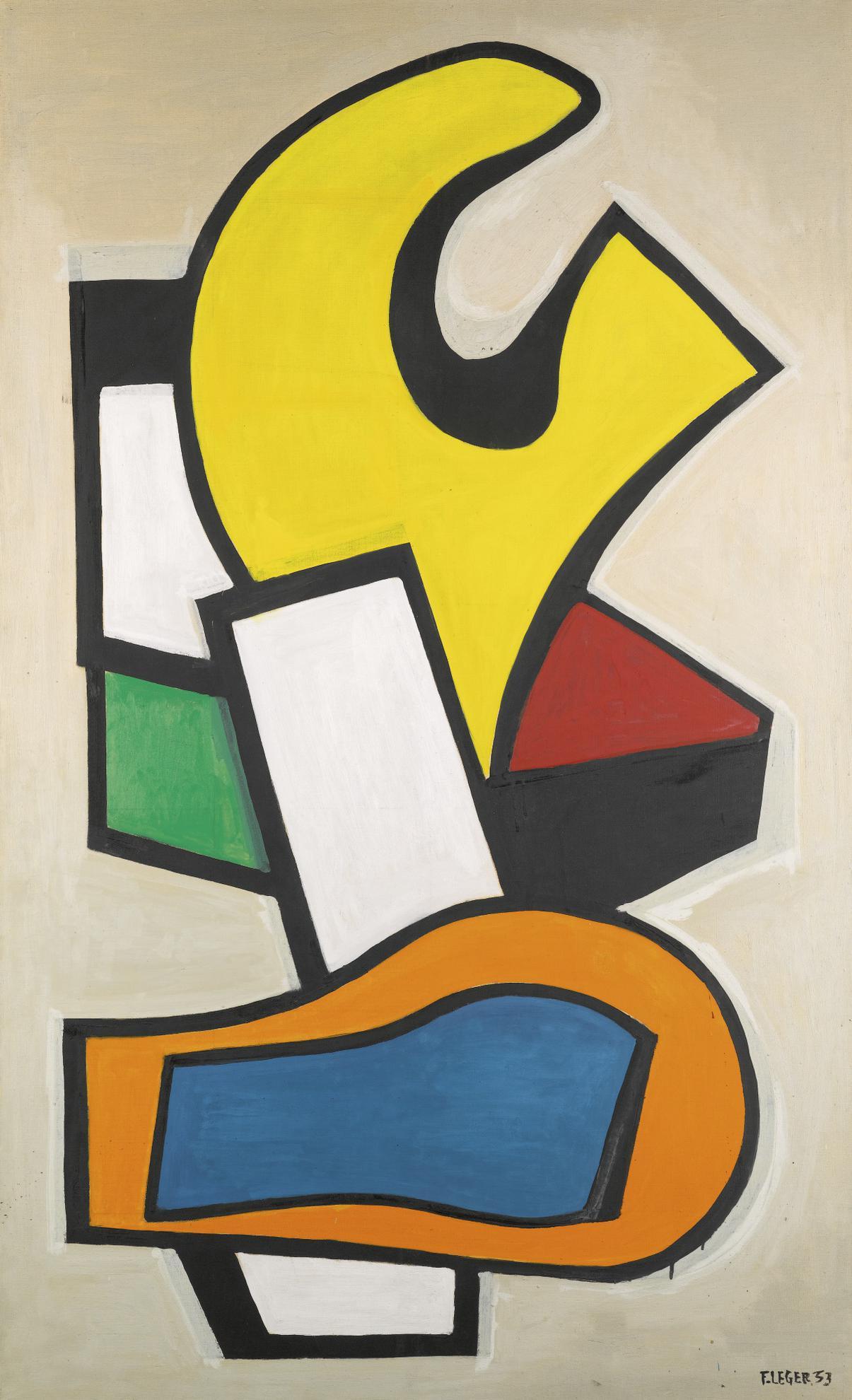 Fernand Leger-Composition Murale Sur Fond Jaune-1953