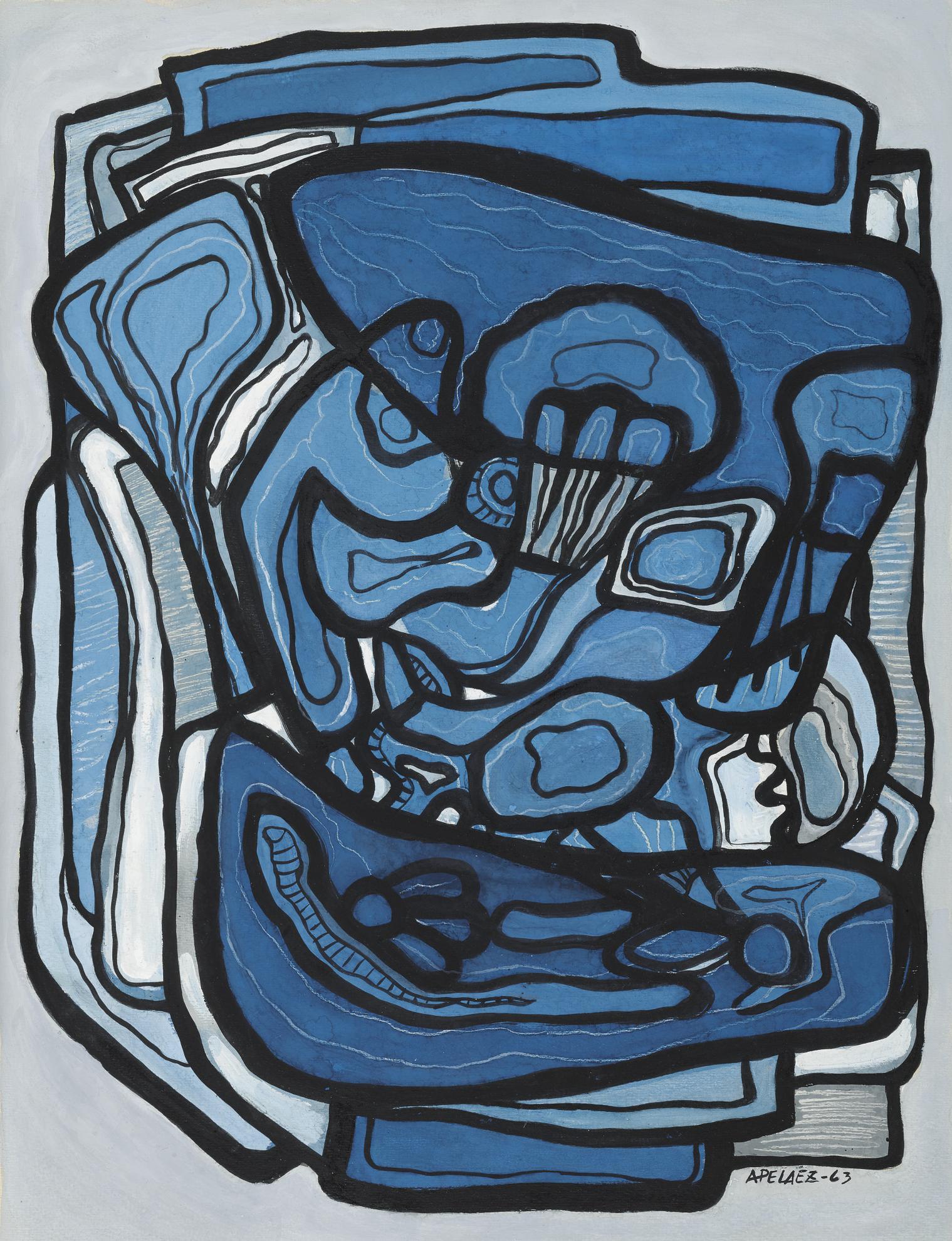 Amelia Pelaez-Florero En Azul-1963
