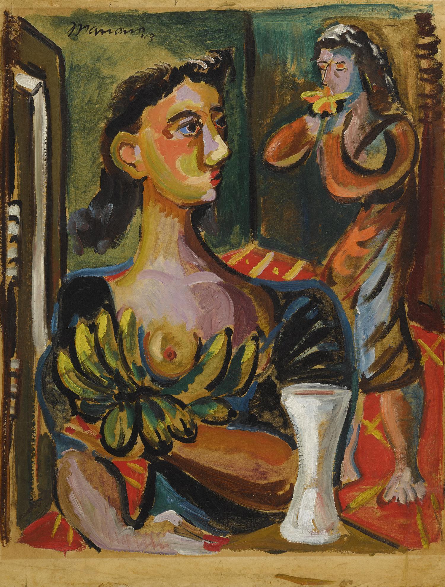 Mariano Rodriguez-Mujeres En Un Interior-1943