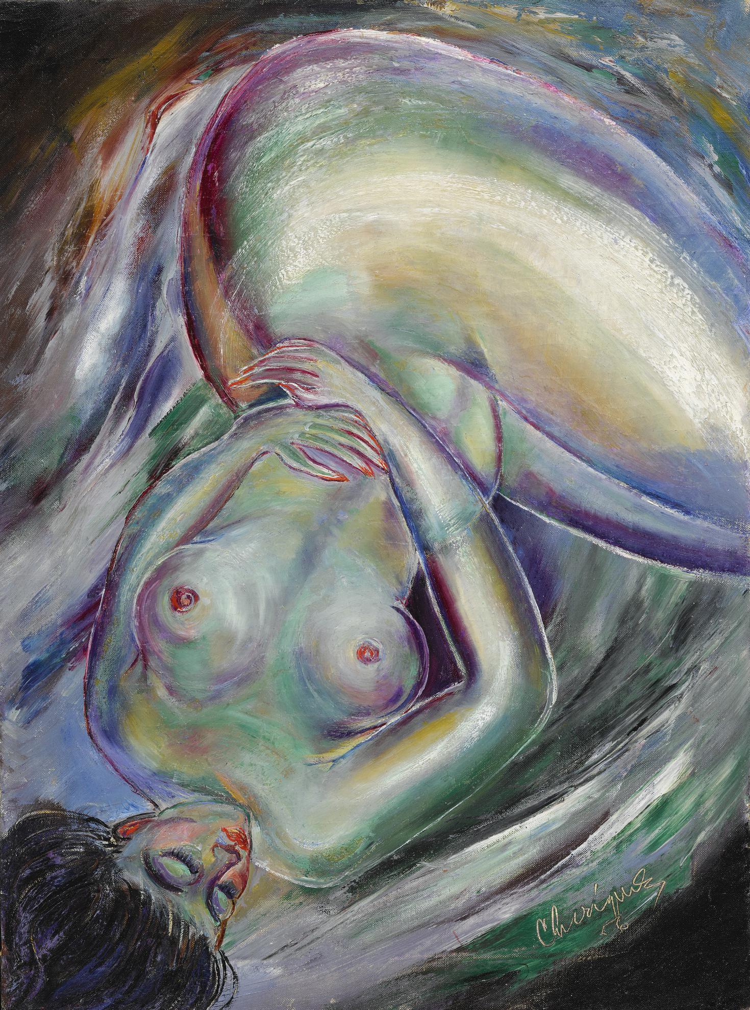 Carlos Enriquez-Desnudo De Mujer-1956
