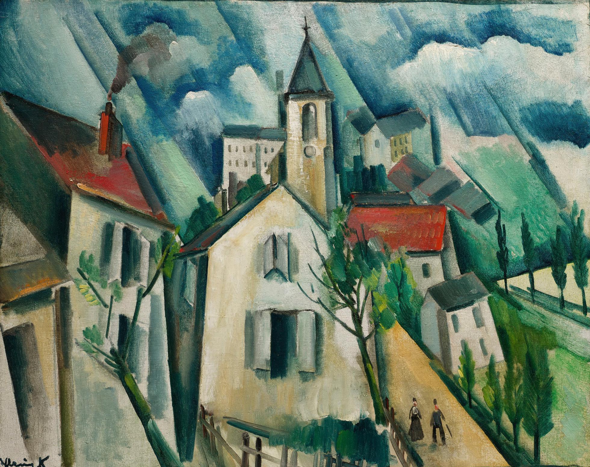 Maurice de Vlaminck-Vue De Village-1911