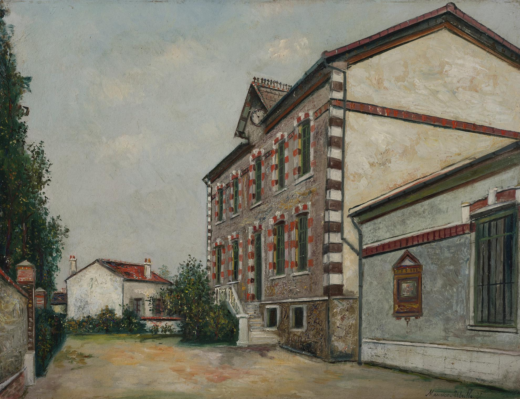 Maurice Utrillo-Lecole-1917