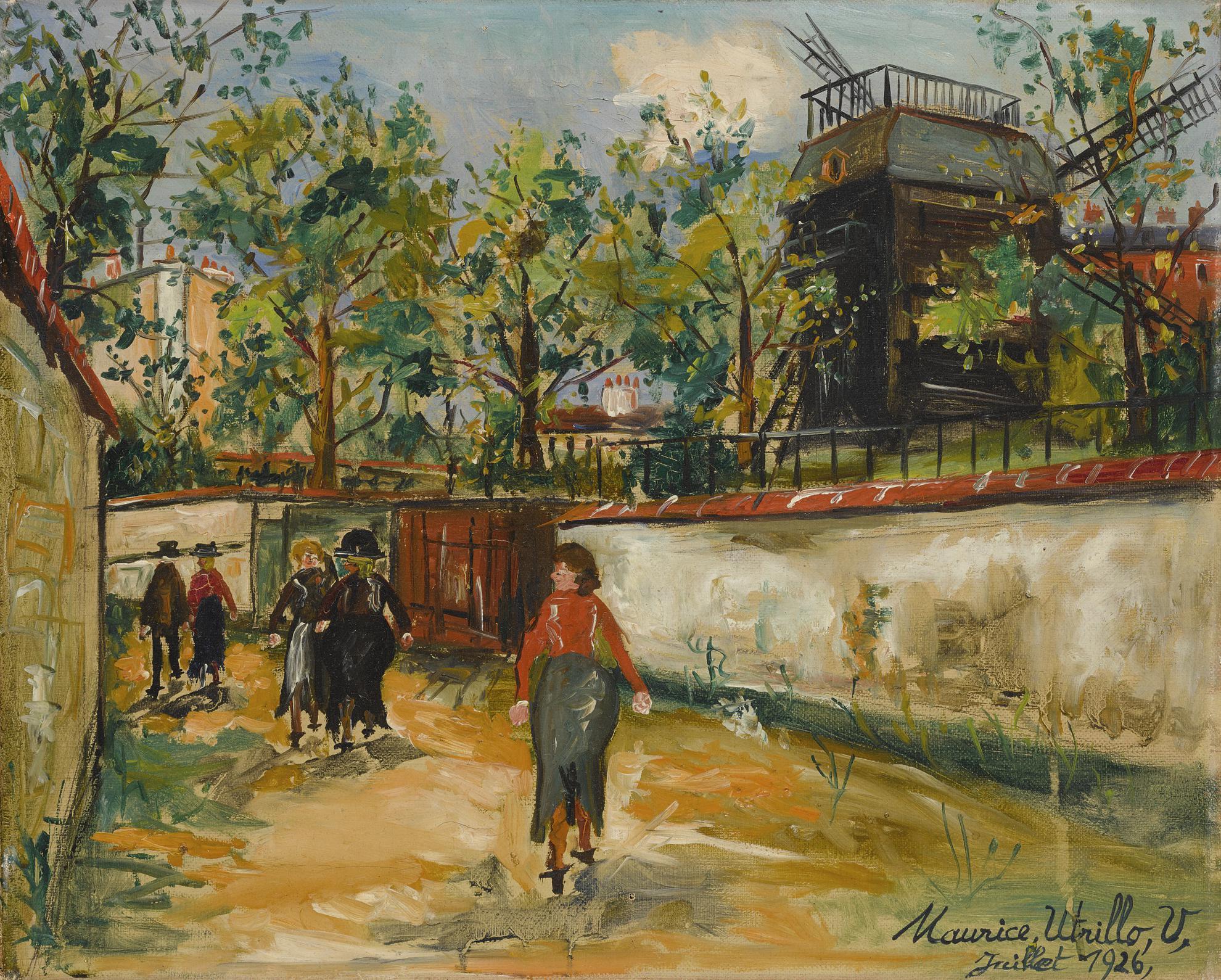 Maurice Utrillo-Moulin De La Galette, Montmartre-1926