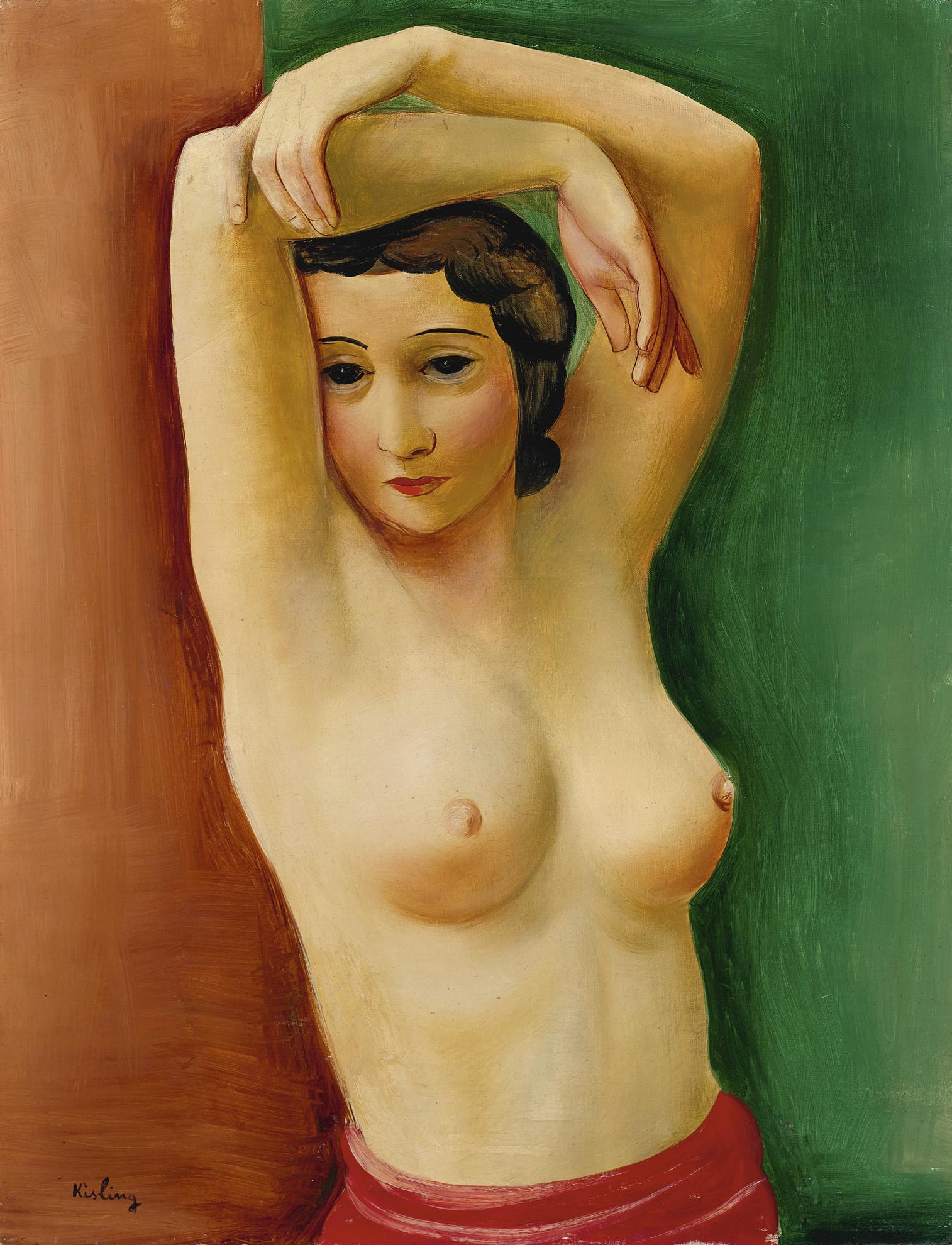 Moise Kisling-Femme, Bras Leves-1930