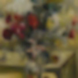Natalia Goncharova-Vase De Fleurs Et De Pommes