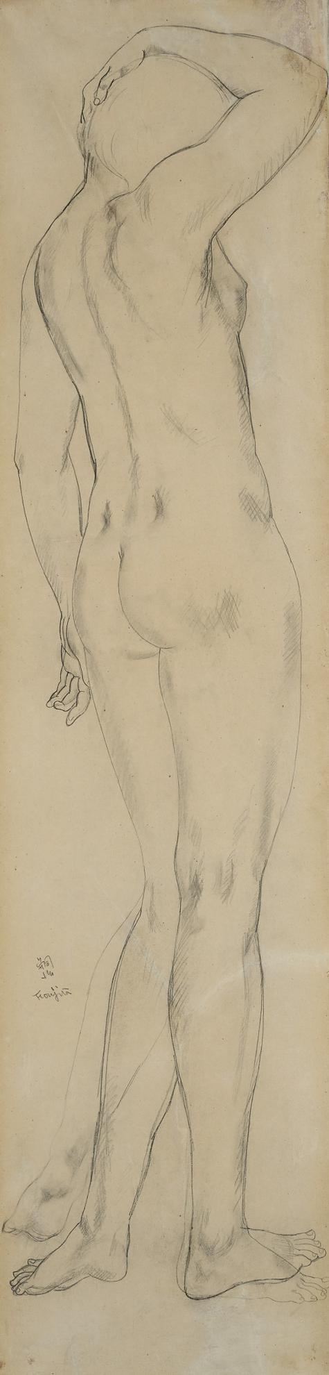 Tsuguharu Foujita-Jeune Femme Nu De Dos-1924