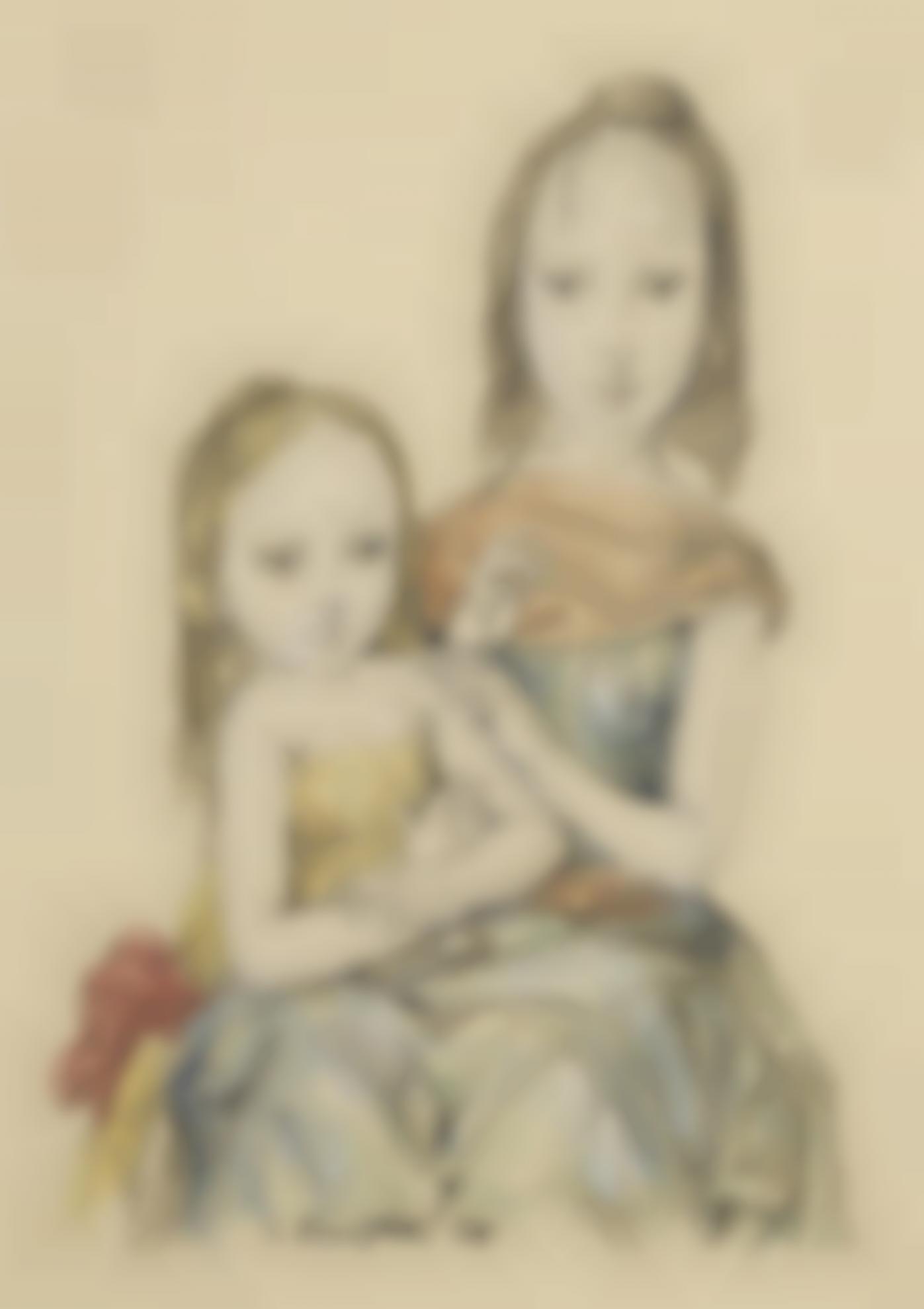 Tsuguharu Foujita-Deux Filles-1966