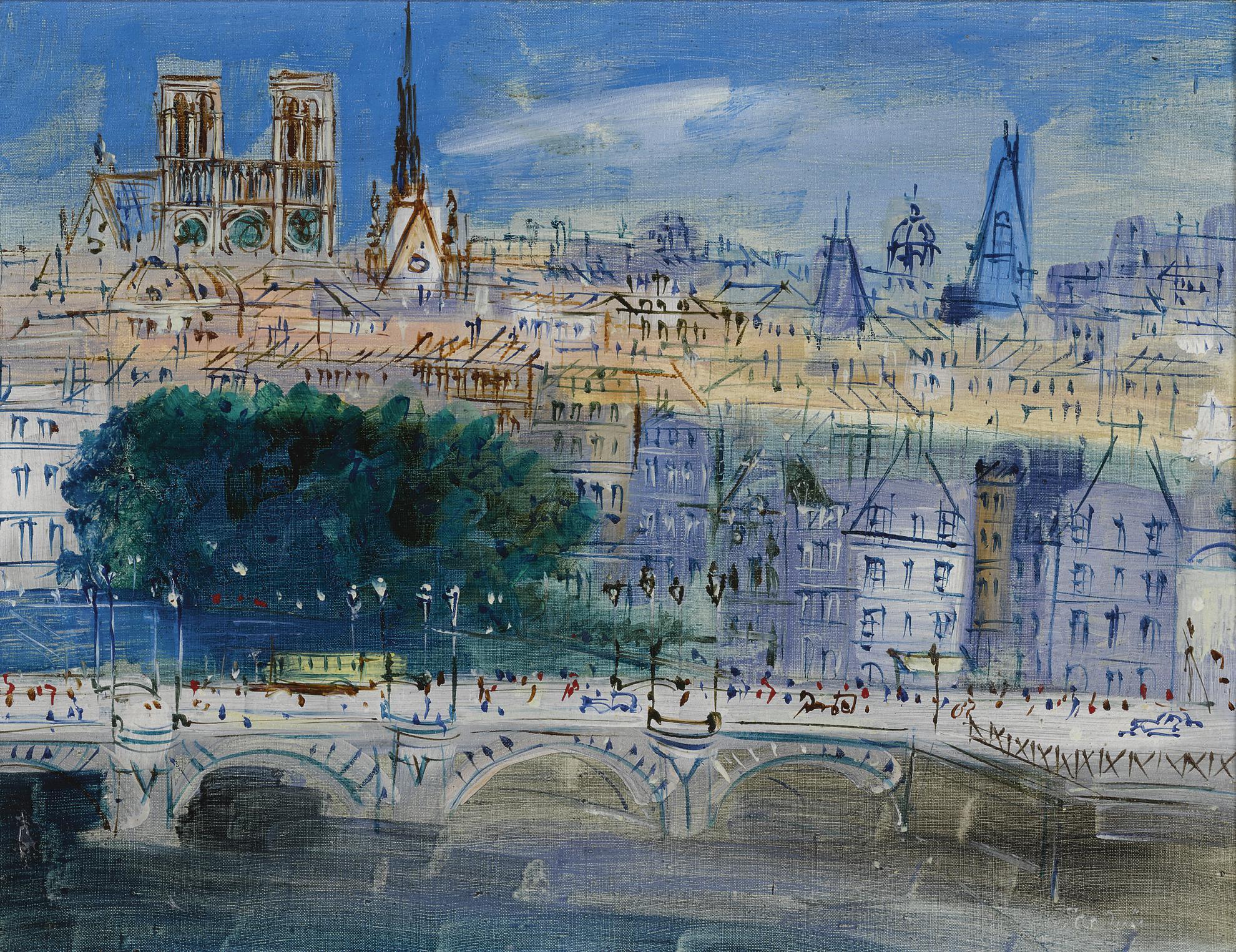 Jean Dufy-Le Pont Neuf, Paris-
