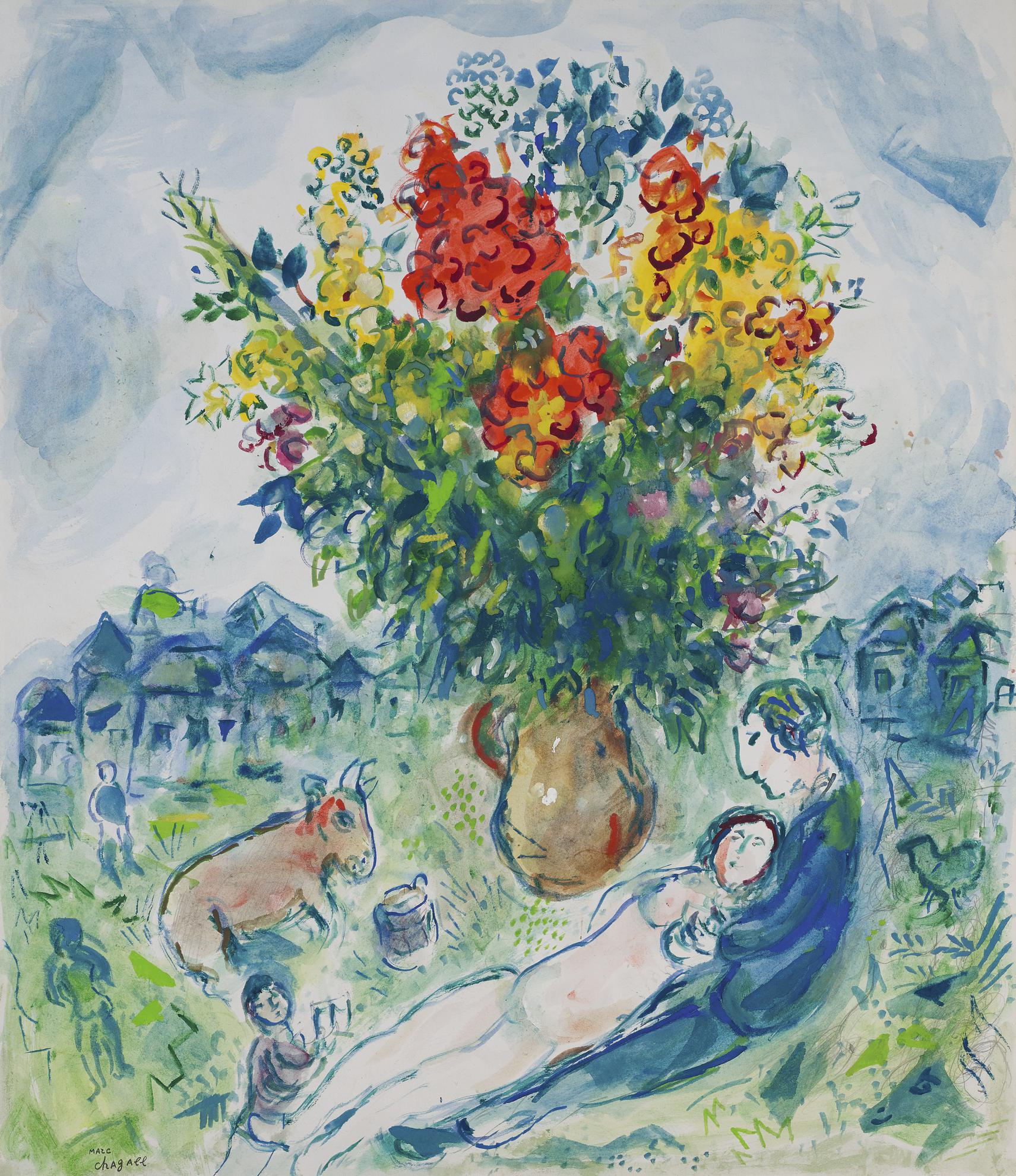 Marc Chagall-Pastorale-1978