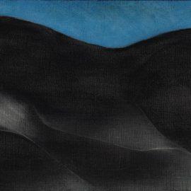 Ricardo Martinez-Mujer Sobre Fondo Azul-1985