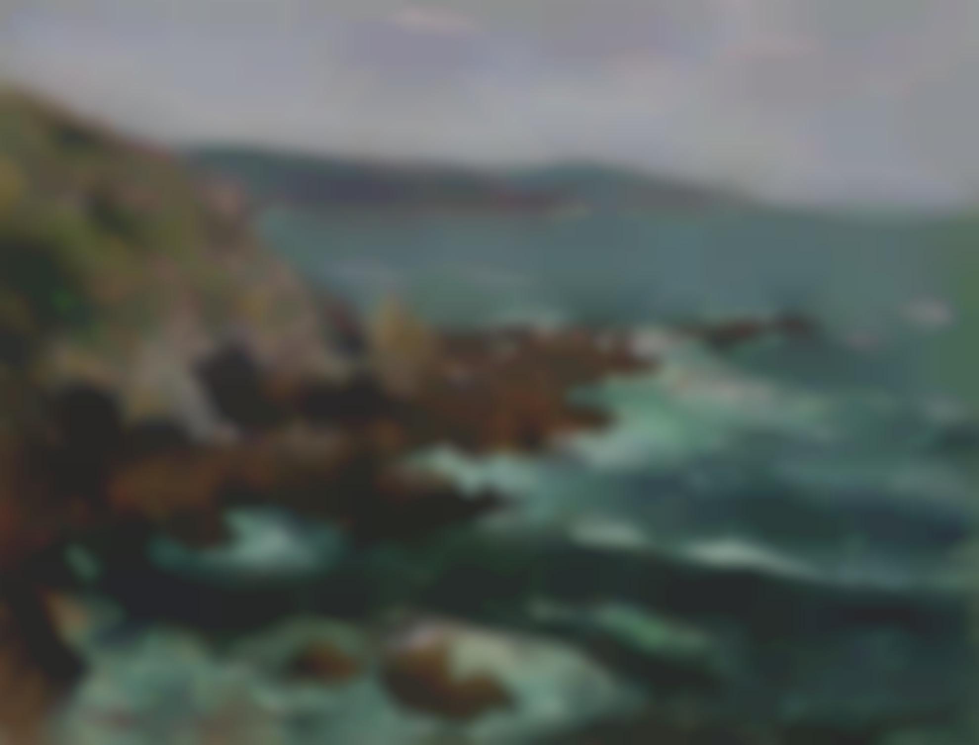 Gustave Loiseau-Rochers Dominant La Mer En Bretagne-1906