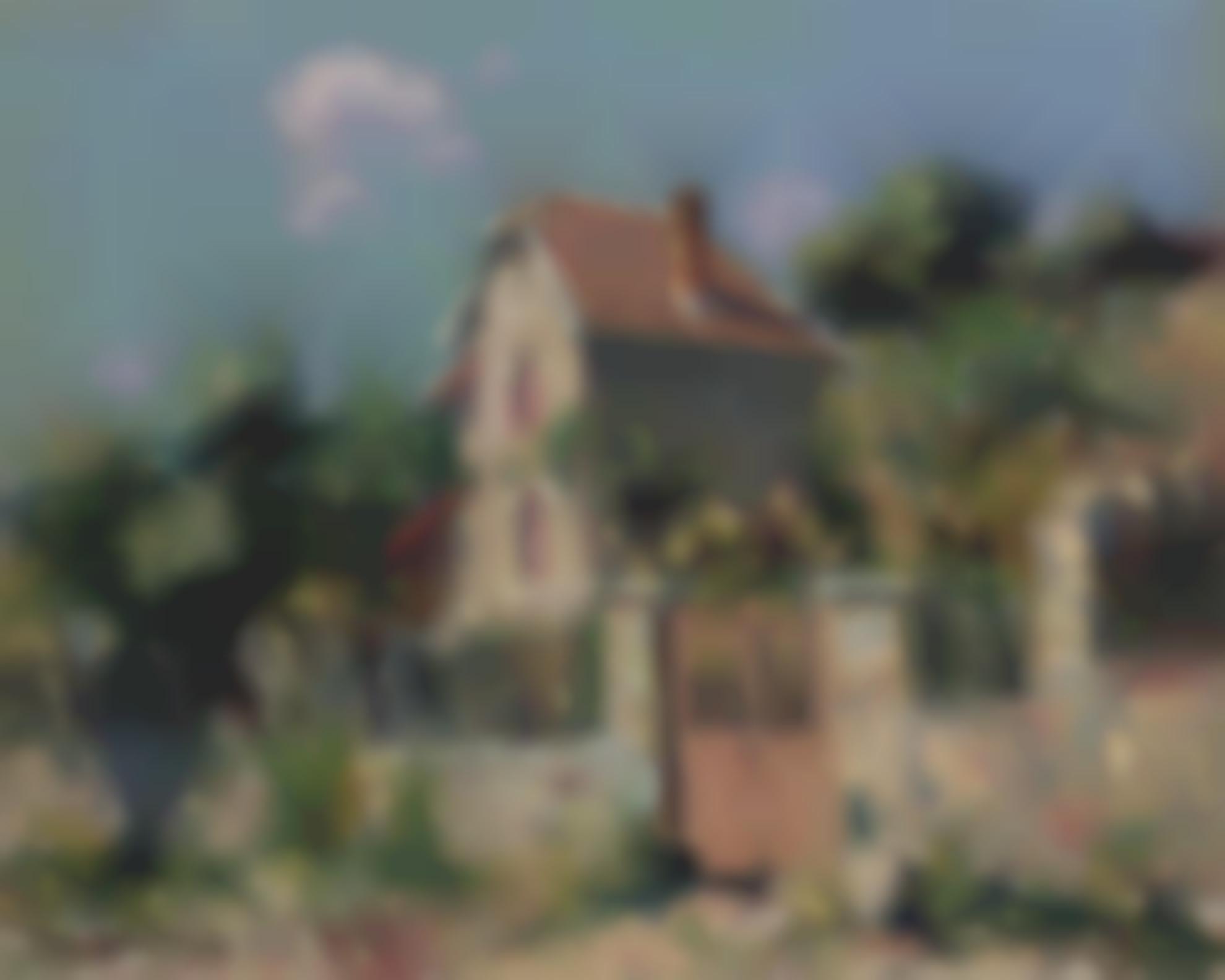 Gustave Loiseau-Maison A La Grille Rose, Environs De Pontoise-1910