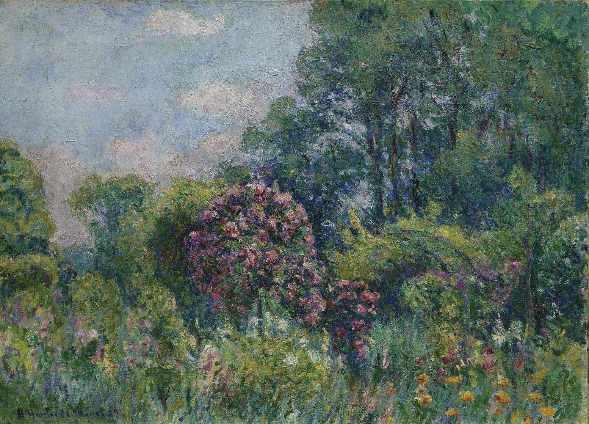 Blanche Hoschede-Monet - La Roseraie A Giverny (Maison De Monet)-1929