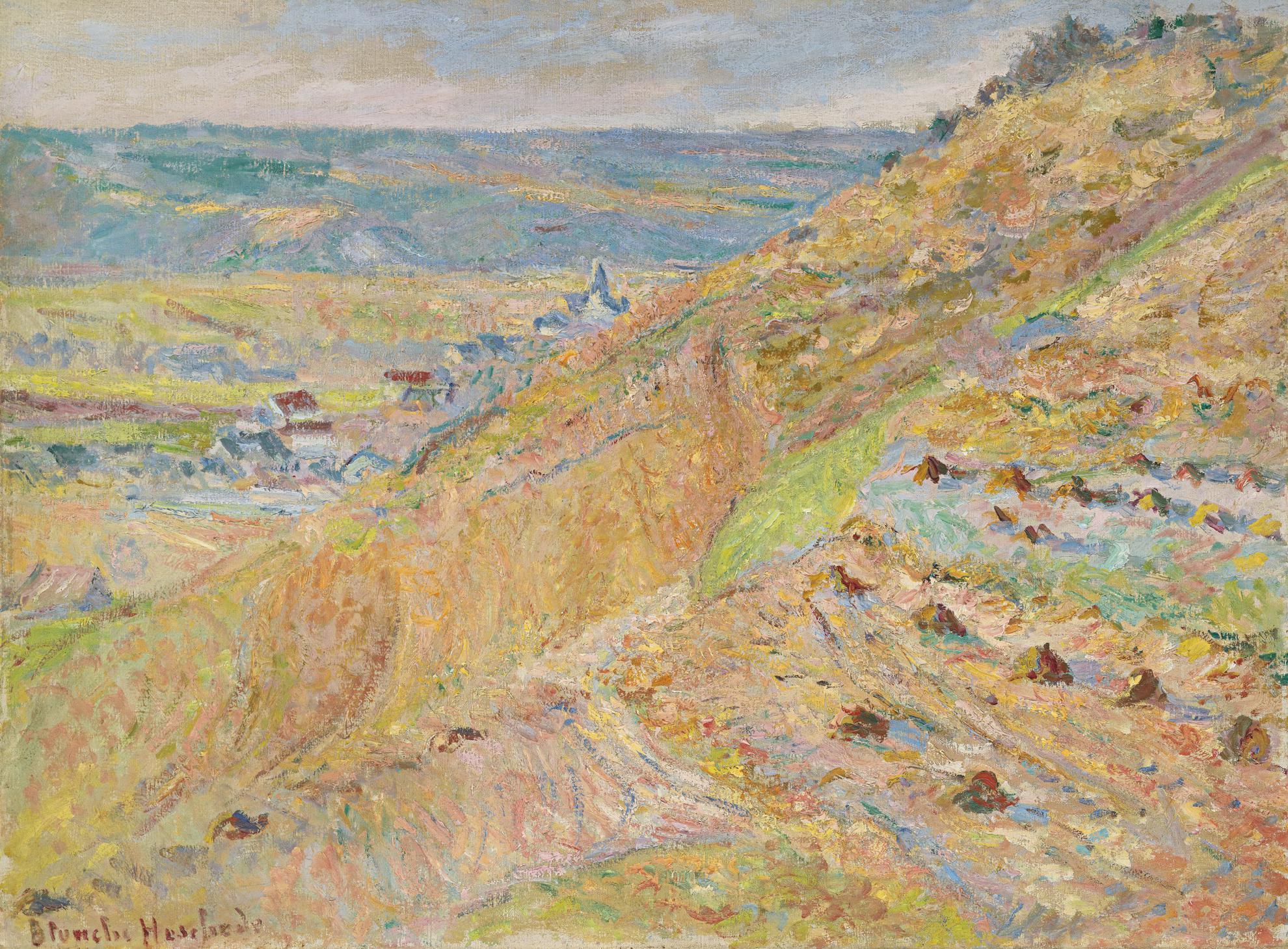 Blanche Hoschede-Monet - La Cote A Giverny (Le Coteau)-