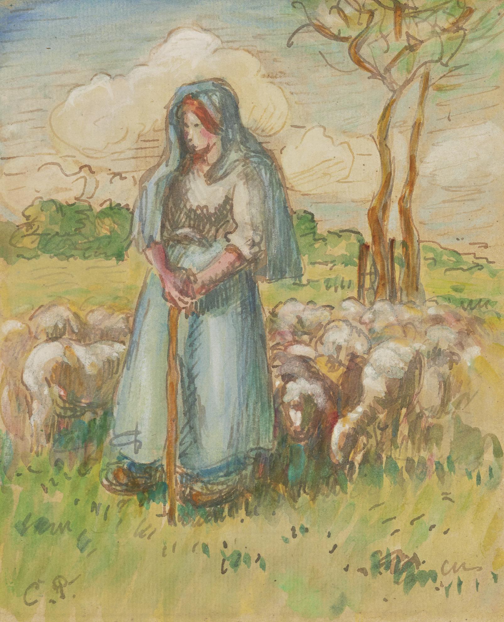 Camille Pissarro-La Bergere-