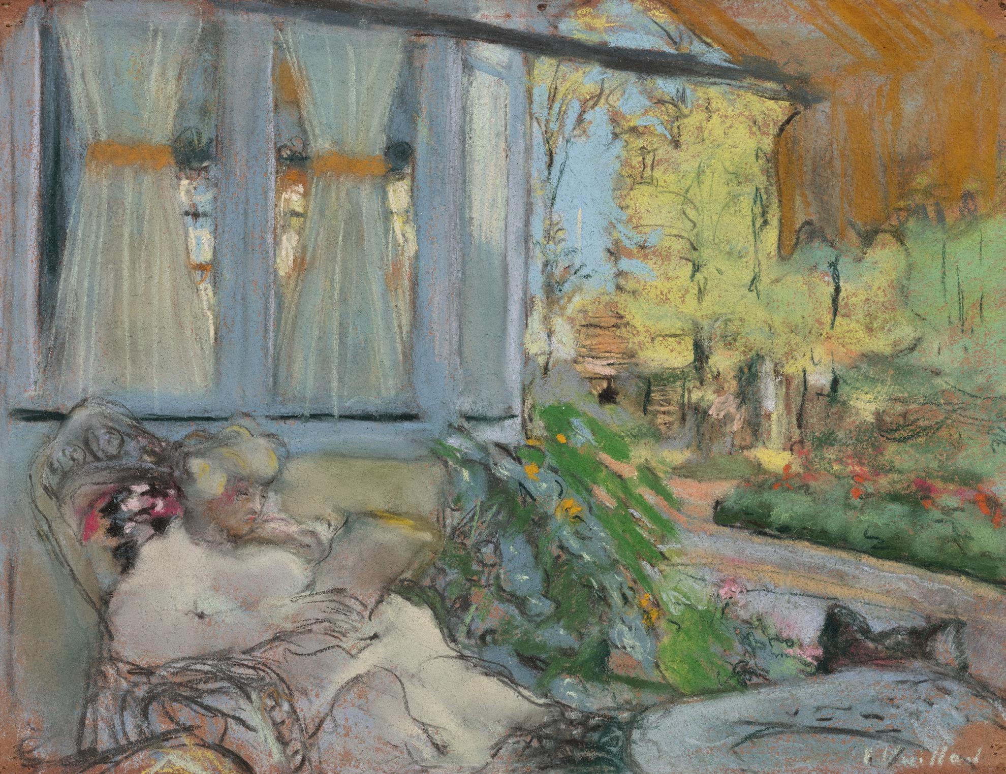 Edouard Vuillard-Madame Hessel Lisant Sur La Terasse Du Clos Cezanne-1925