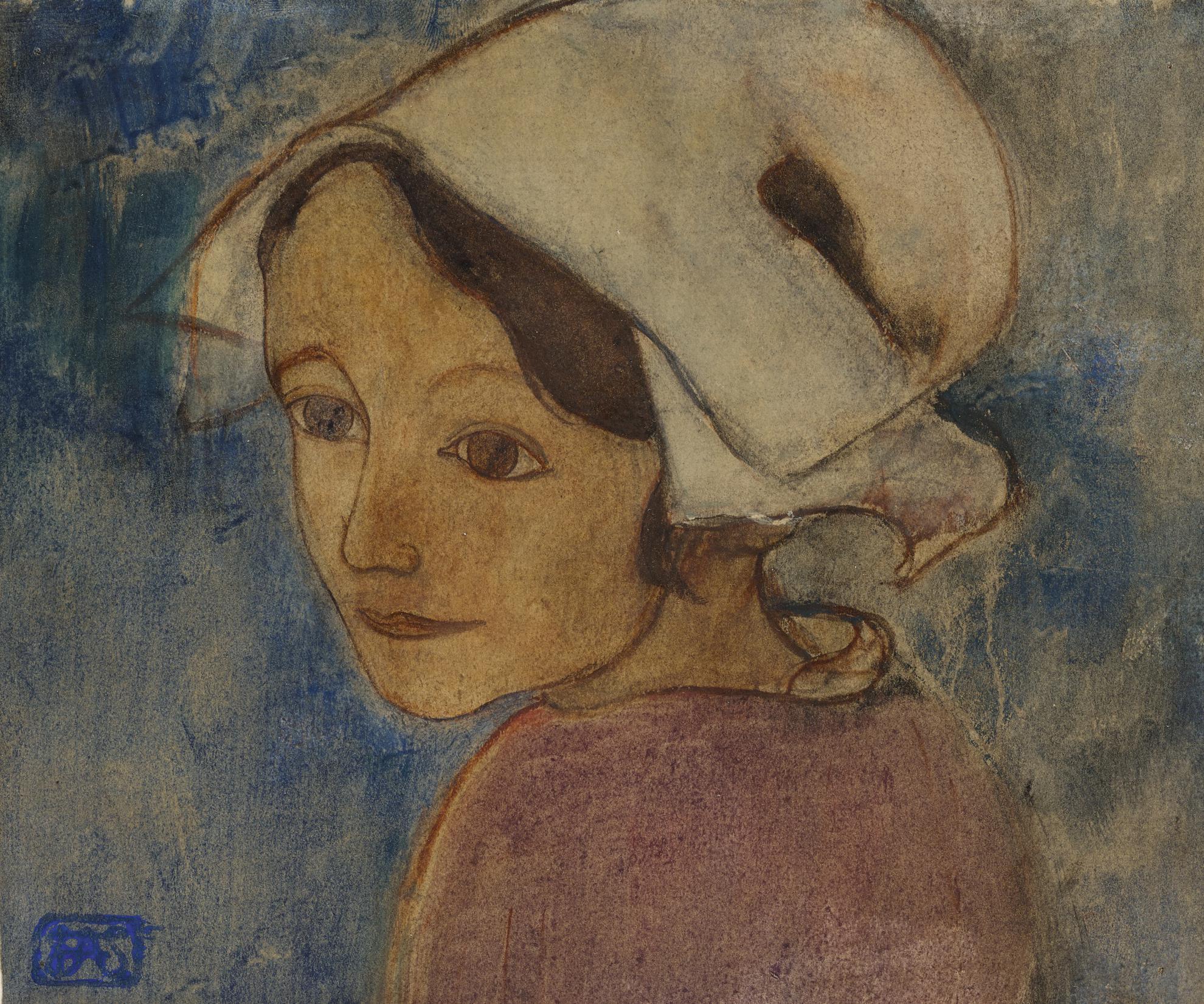 Armand Seguin - Tete De Jeune Bretonne-