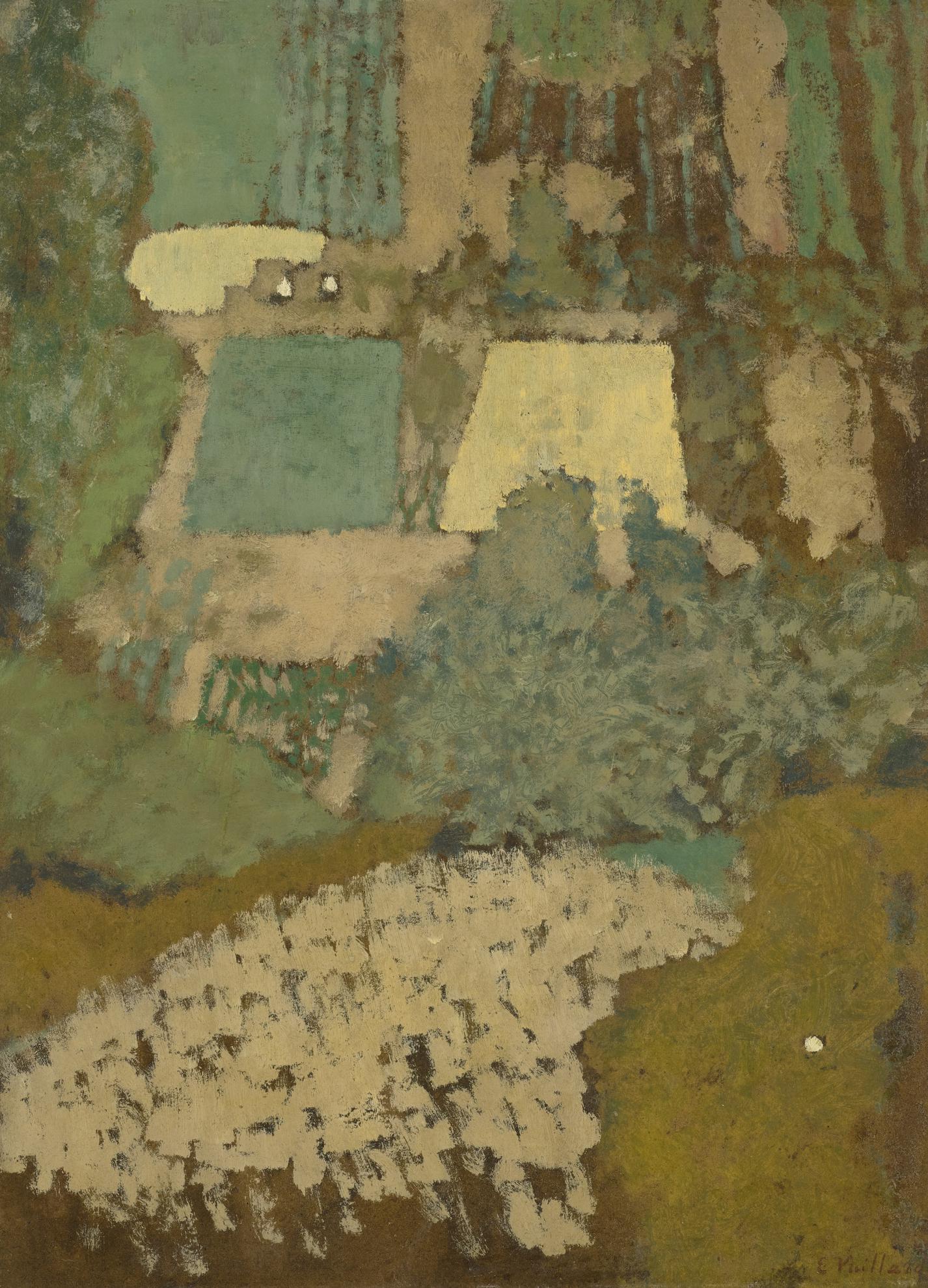 Edouard Vuillard-Vue Plongeante Sur La Colline-1900