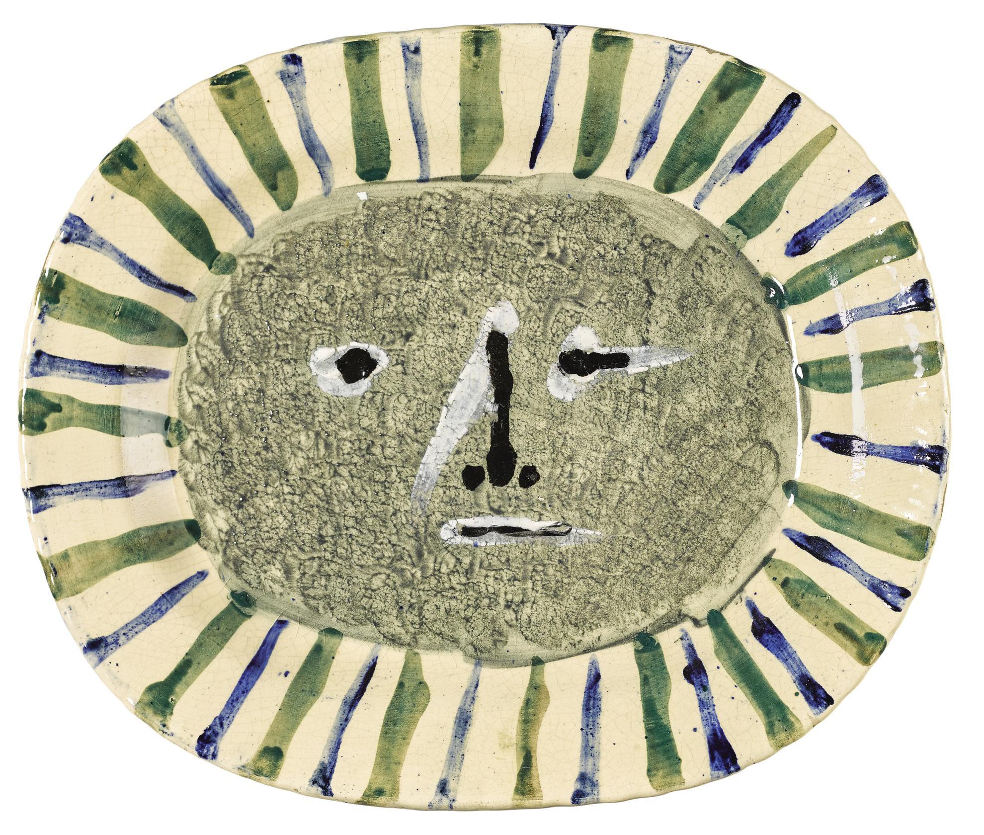 Pablo Picasso-Plat Visage Masque-1947