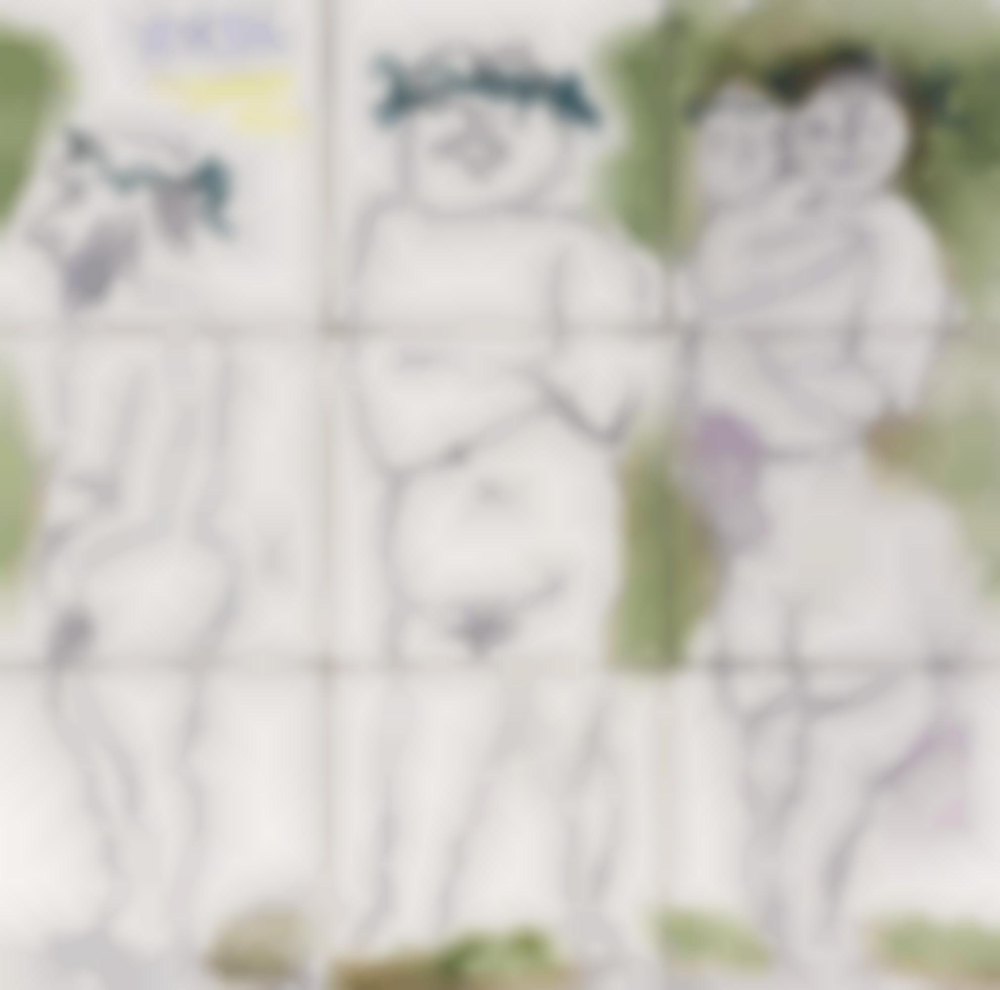 Pablo Picasso-Famille, Tetes Laurees: Quatre Personnages-1956