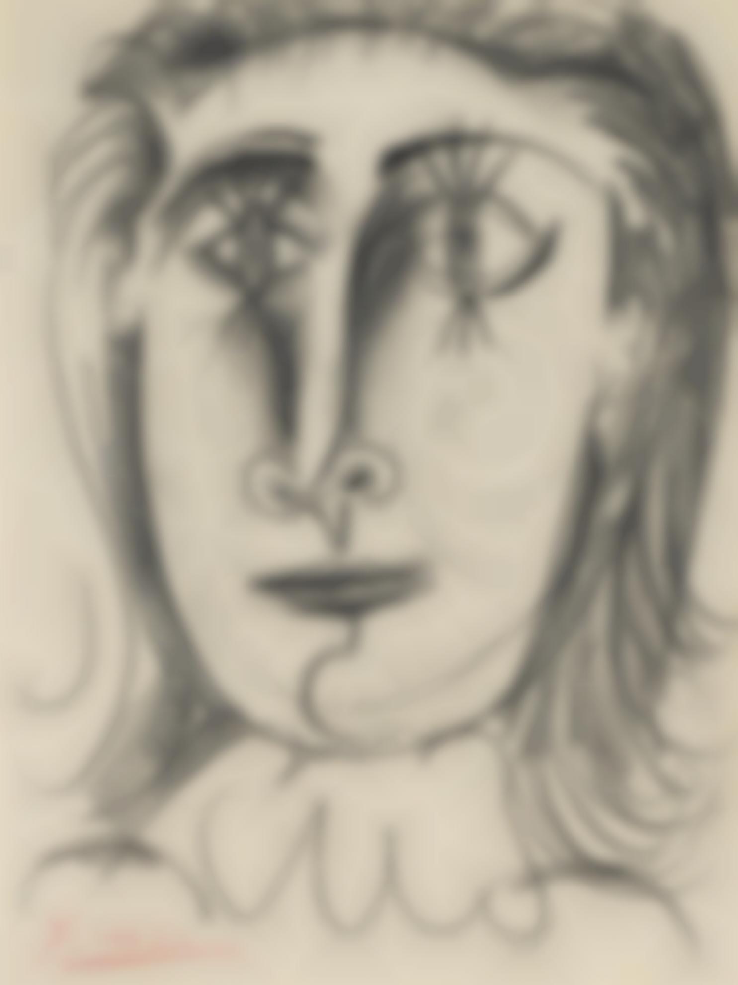 Pablo Picasso-Tete De Femme (Dora Maar)-1941