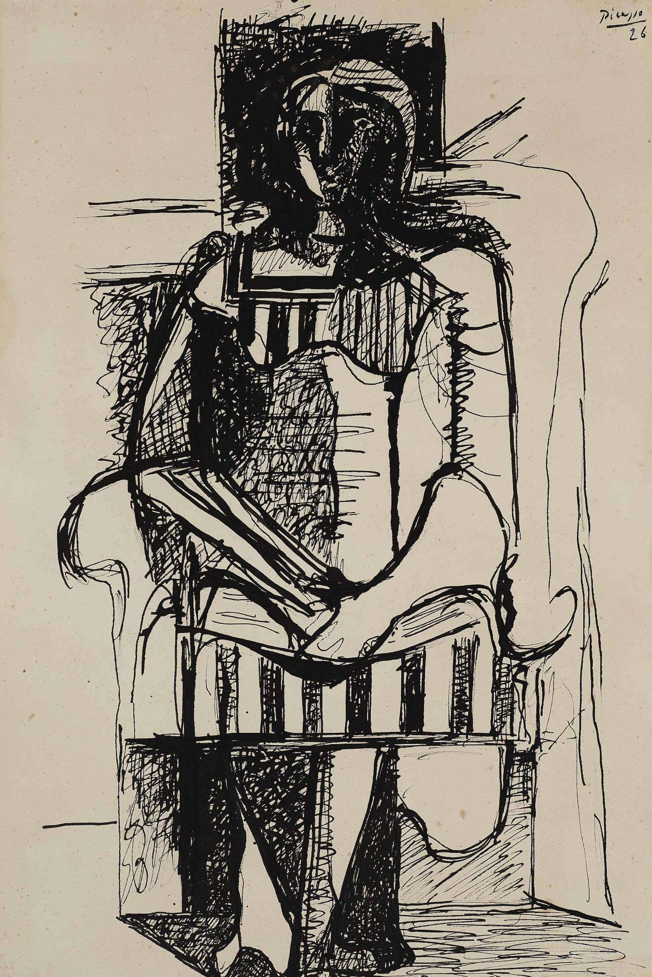 Pablo Picasso-Femme Assise-1926