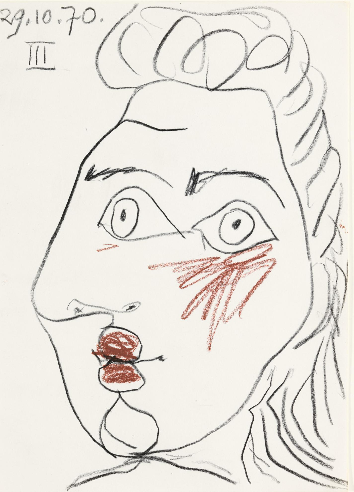 Pablo Picasso-Visage De Femme-1970