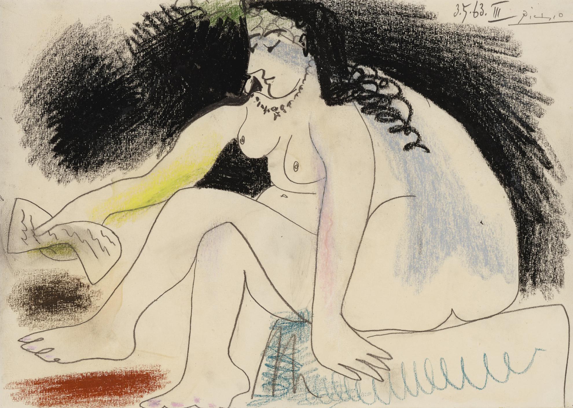 Pablo Picasso-Bethsabee Et La Lettre De David-1963
